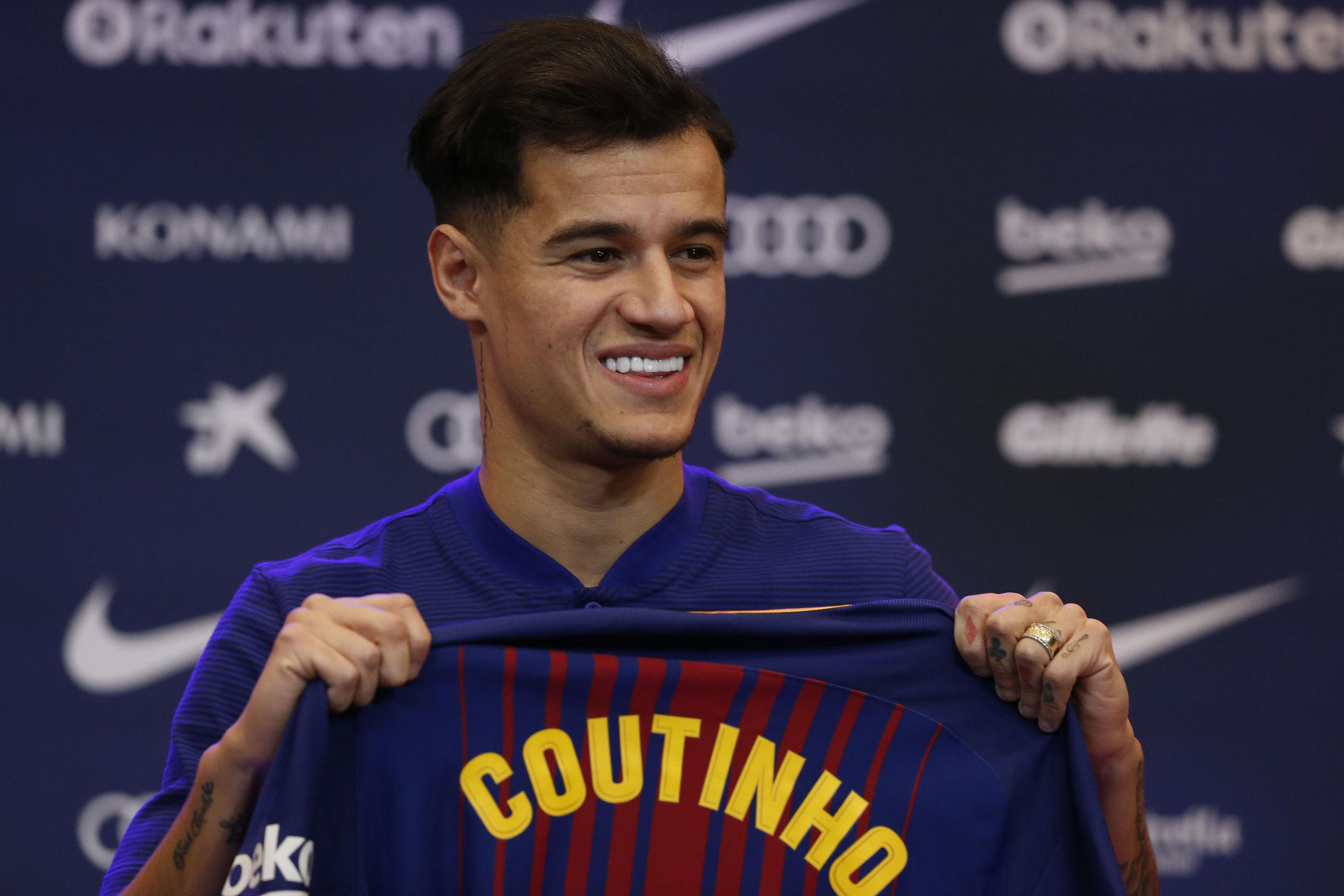 Barcelona's new signing Philippe Coutinho (AP Photo/Manu Fernandez)