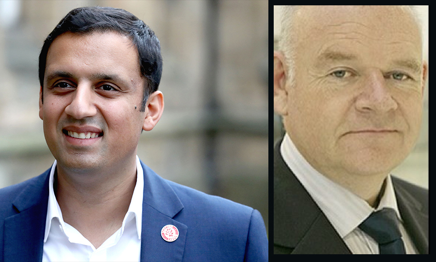 David McLachlan has been accused of making racist remarks to Anas Sarwar ( Andrew Milligan/PA Wire & Twitter)