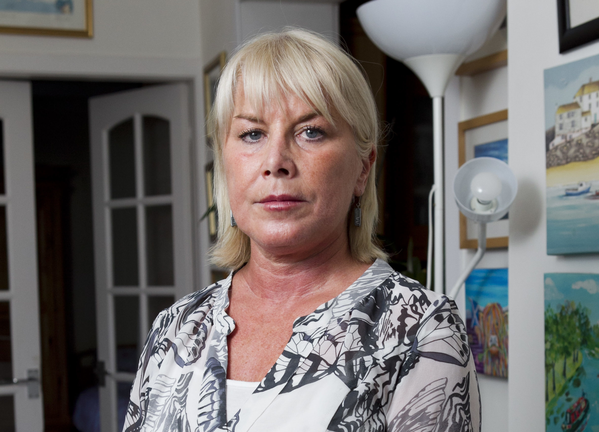 Anne Marie Kernoghan, who is unhappy after a court case collapsed because of police errors - the case was meant to prosecute carers who mistreated her severely disabled sister, Mary Anne Caldwell. (Andrew Cawley)