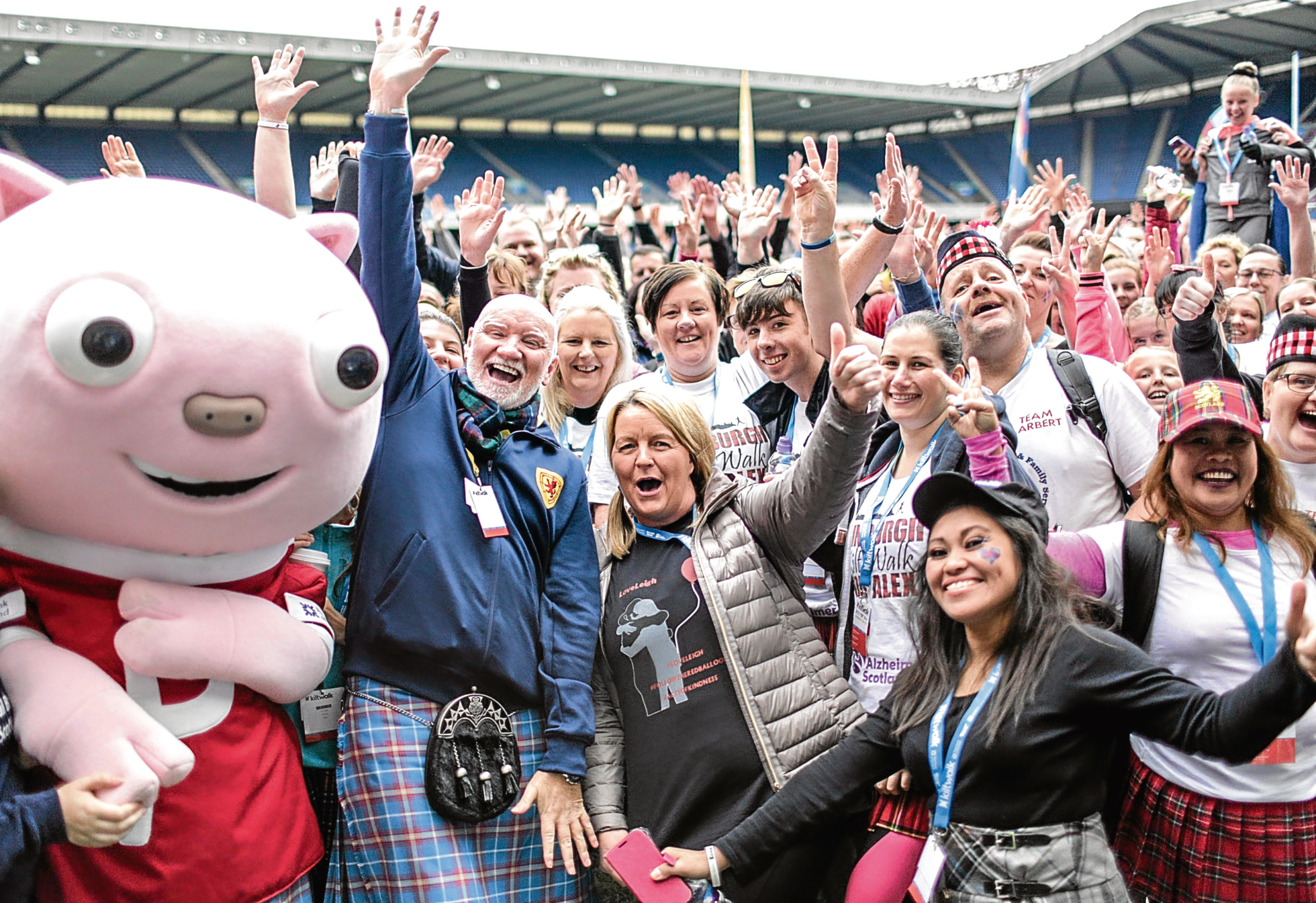 Participants in The Kiltwalk