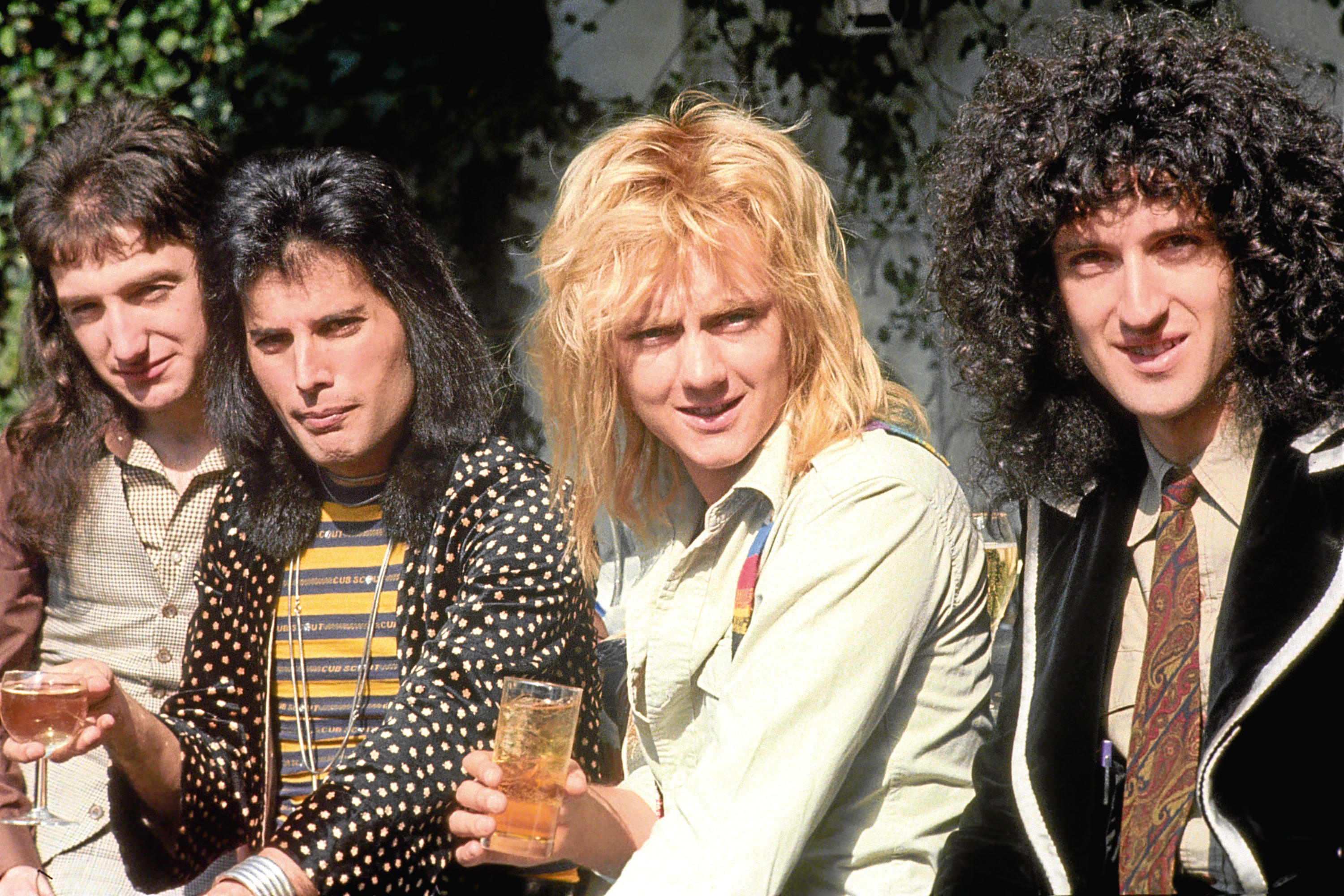 Queen's John Deacon, Freddie Mercury, Roger Taylor and Brian May in 1976 (PA Archive)