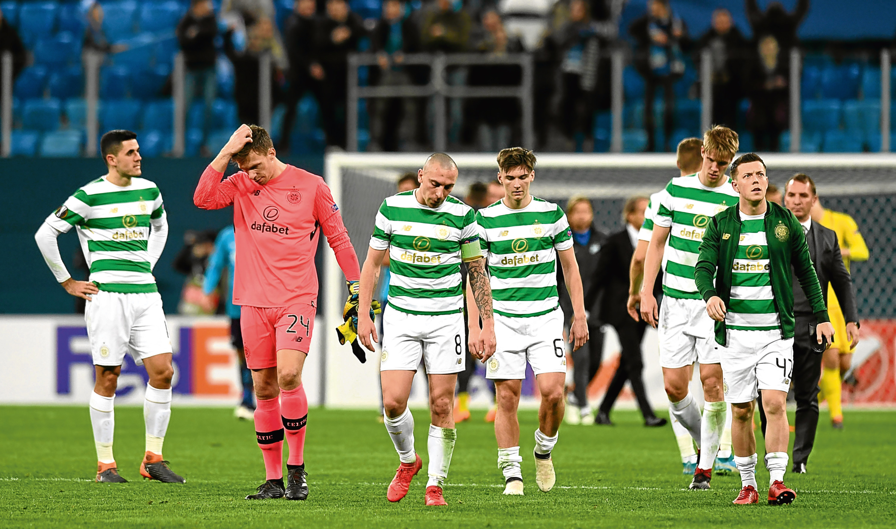 Celtic's players are left frustrated at full time (SNS)