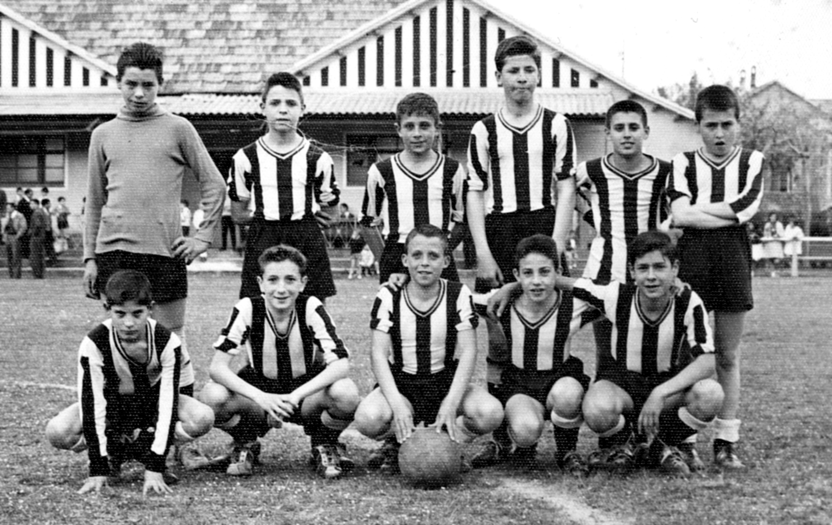 Children's football team of CD Borgonyà, 1961.