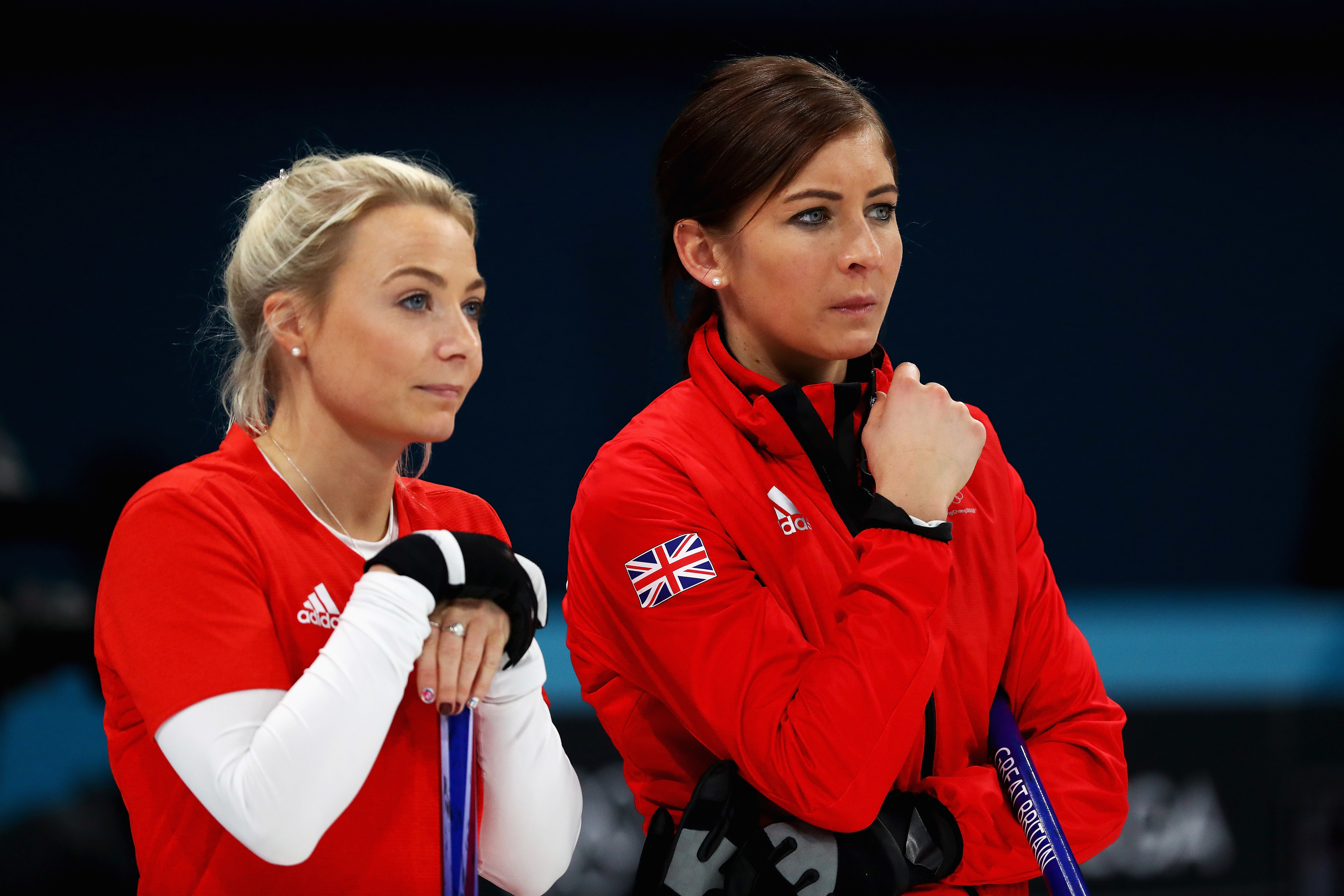 GB curlers Anna Sloan and Eve Muirhead (Dean Mouhtaropoulos/Getty Images)