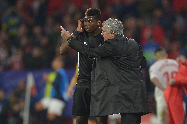 Mourinho and Pogba (Aitor Alcalde/Getty Images)