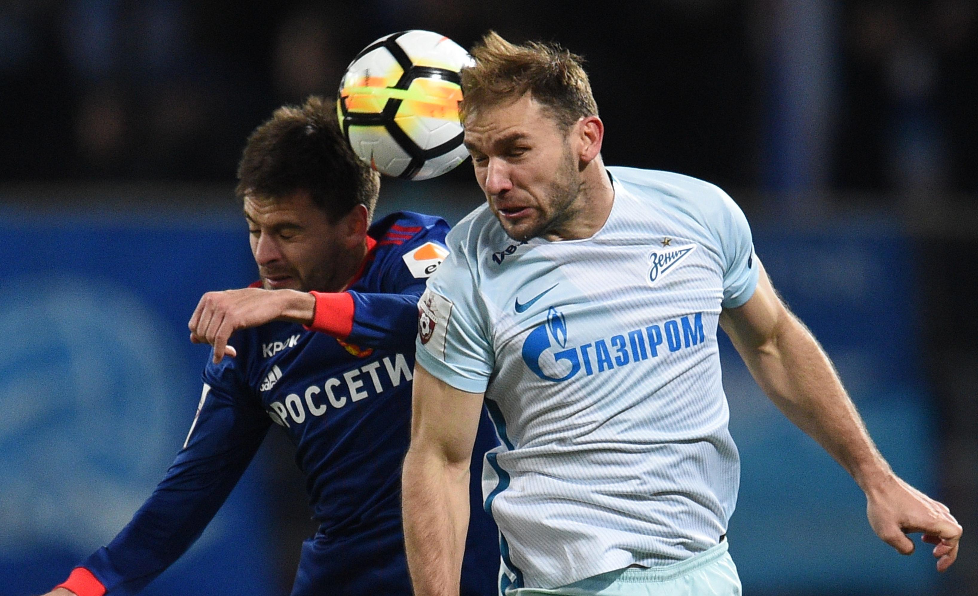 Branislav Ivanovic in action for Zenit against CSKA Moscow (Epsilon/Getty Images)