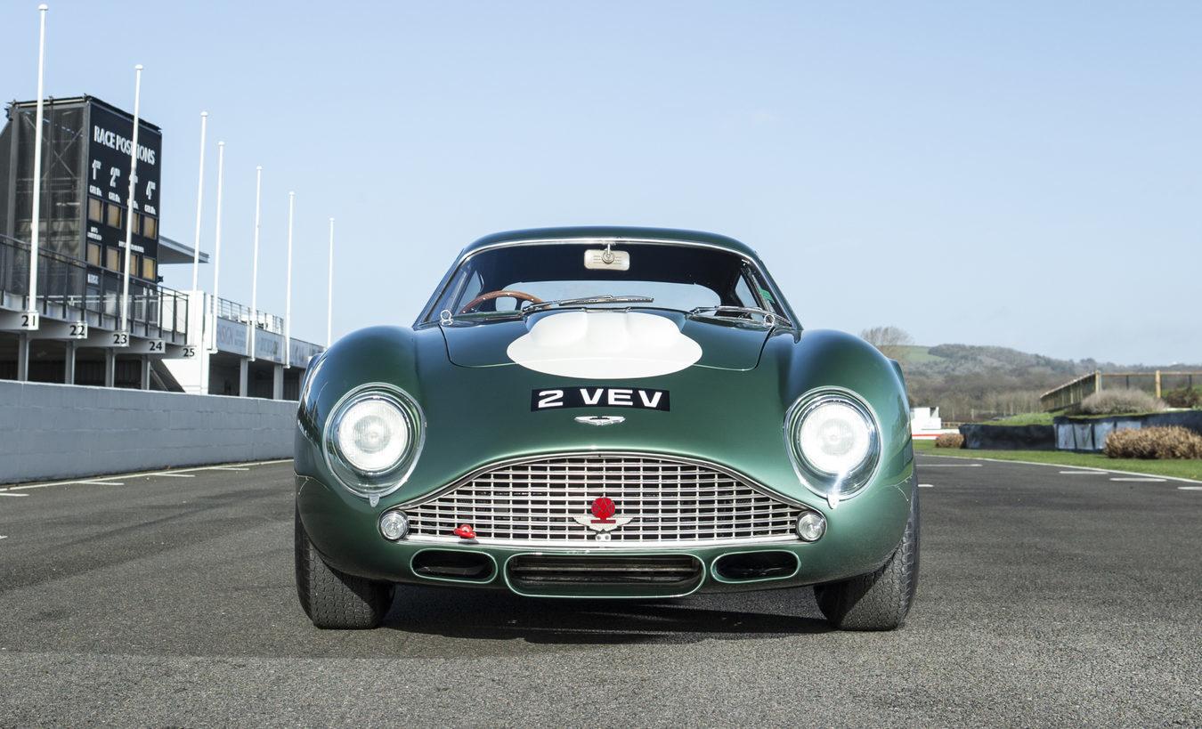 The 1961 Aston Martin DB4 GT driven - and crashed - by Formula One world champion Jim Clark (Bonhams/PA Wire)