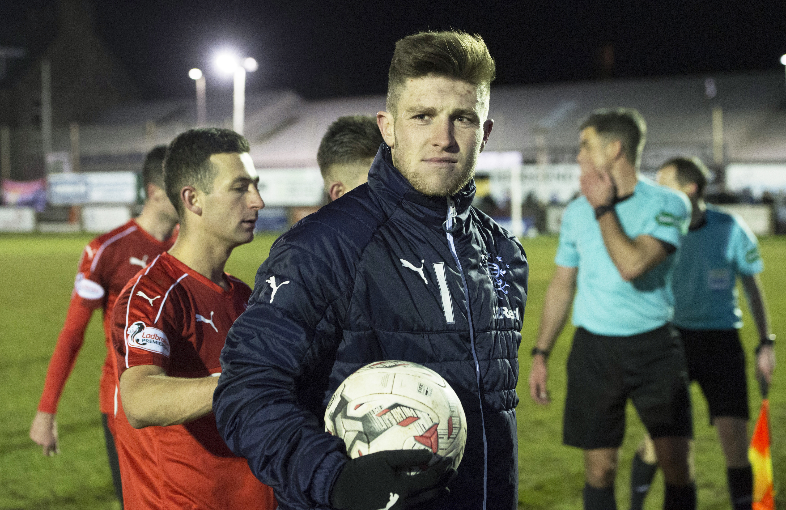 Josh Windass claimed the match ball after netting a hat-trick against Fraserburgh (SNS Group / Craig Foy)