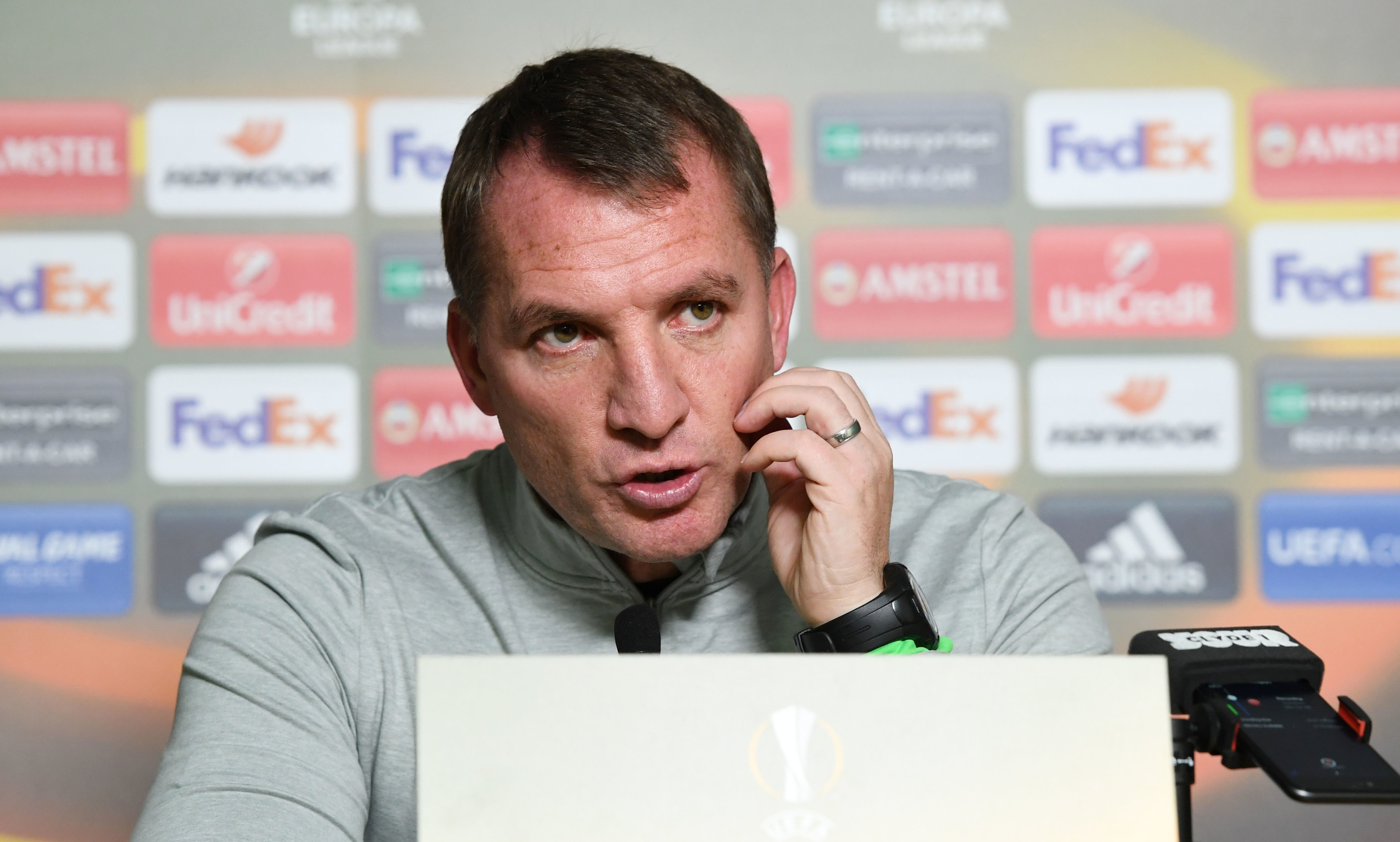 Celtic manager Brendan Rodgers looks ahead to his sides Europa League clash with Zenit St Petersburg (SNS)