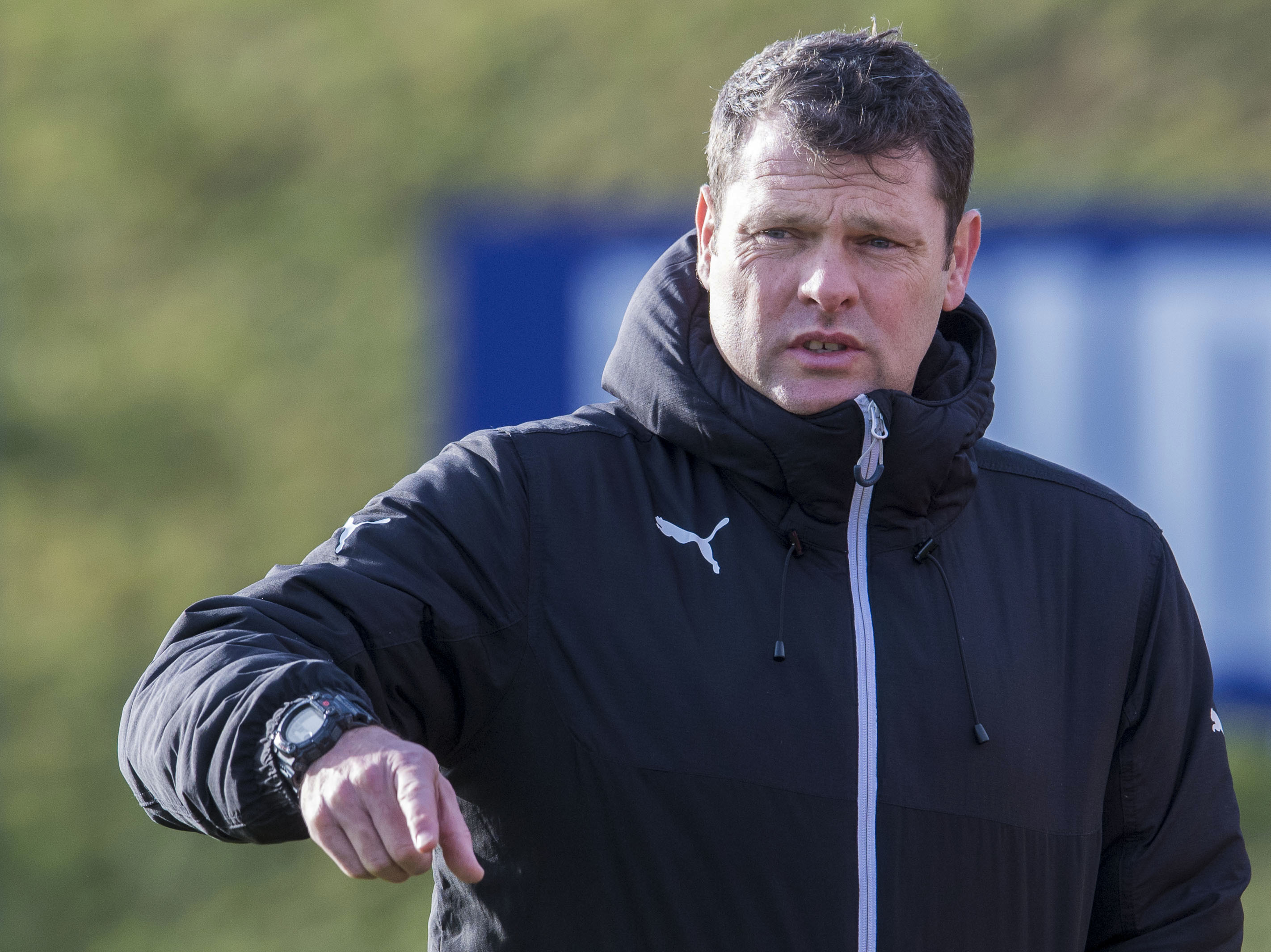 Rangers manager Graeme Murty at training (SNS)