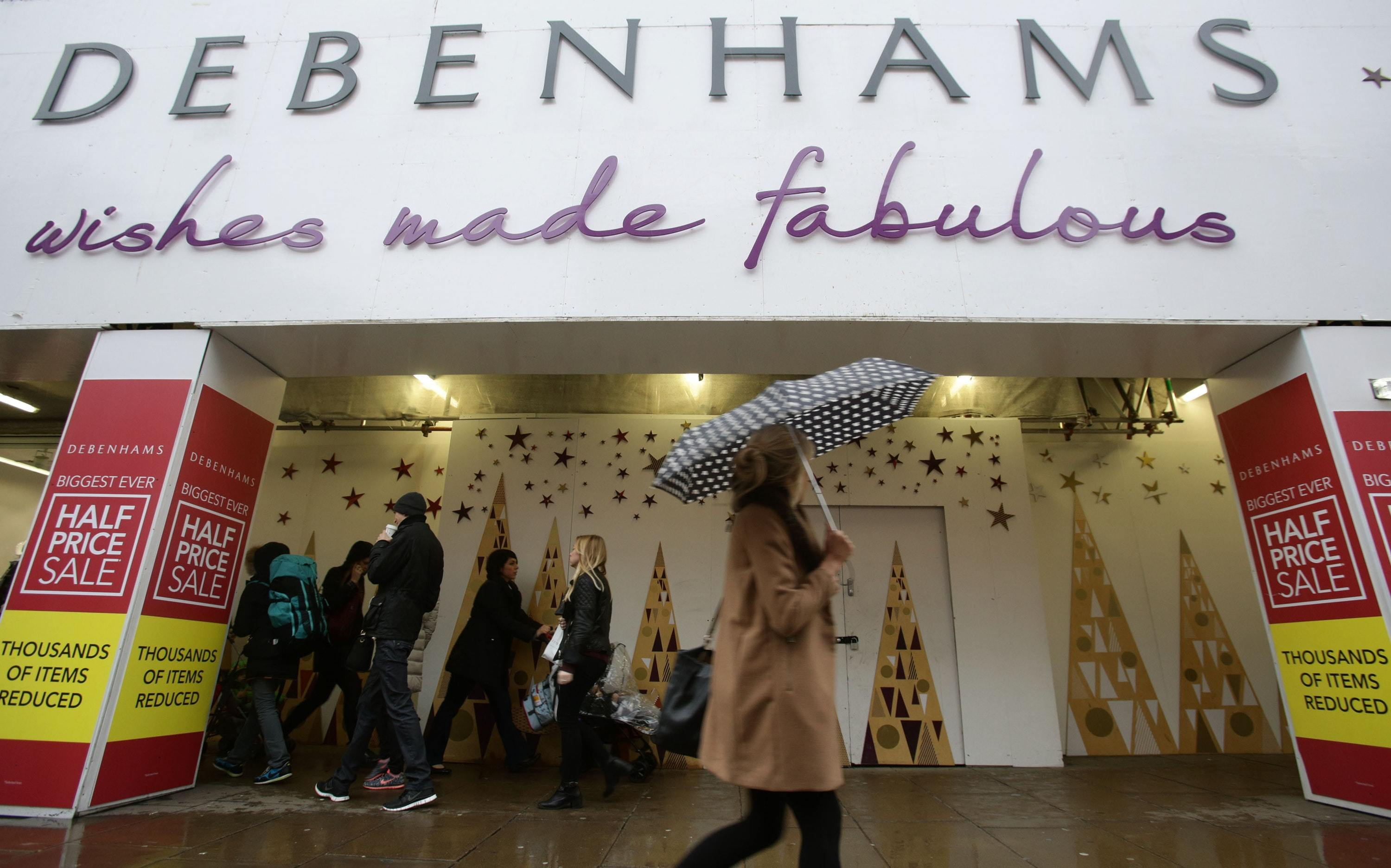 Debenhams store on Oxford Street, London (PA)