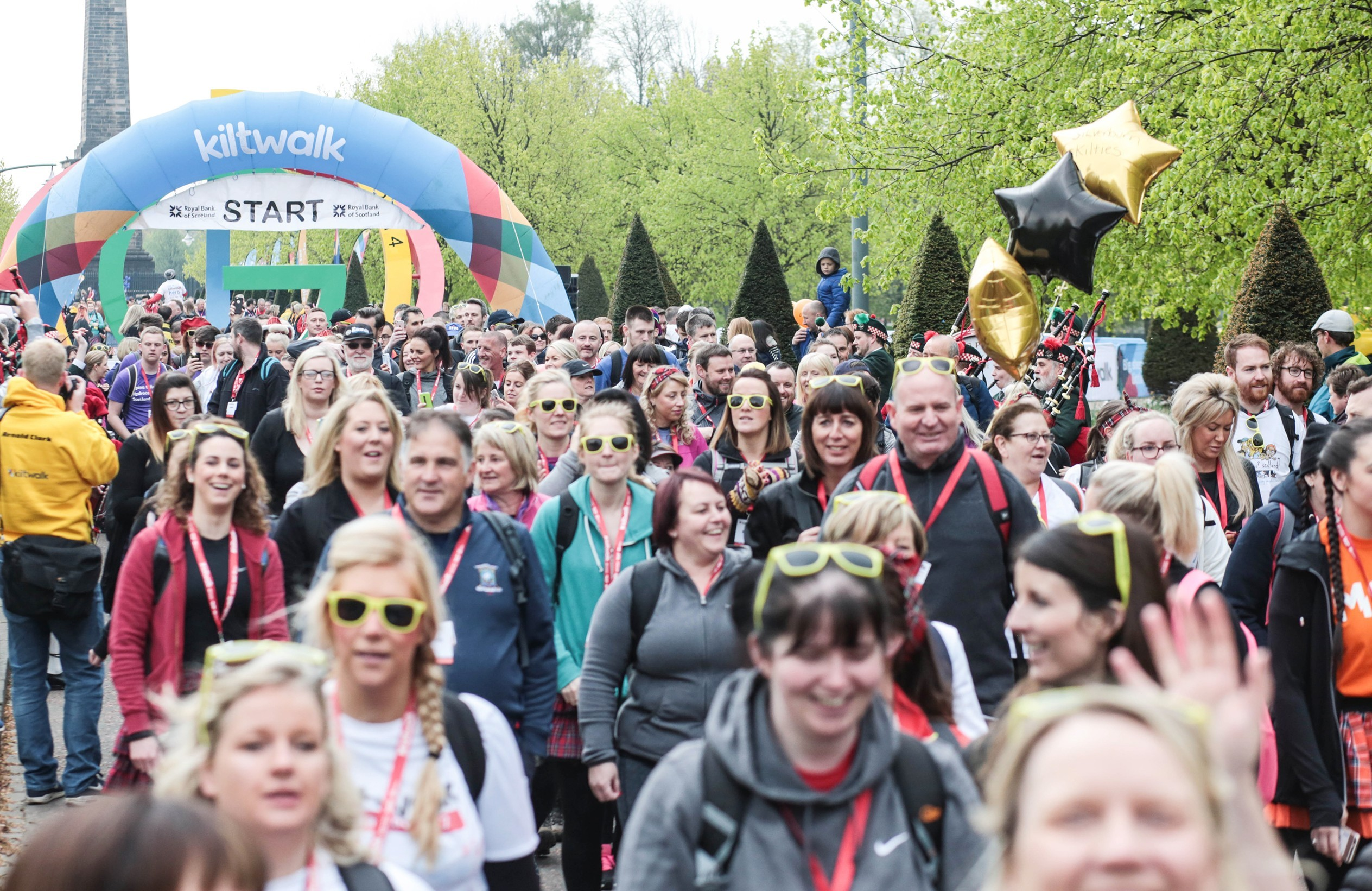 Gerard Butler and Ross King have urged people to take part in Kiltwalk (Kiltwalk/PA)