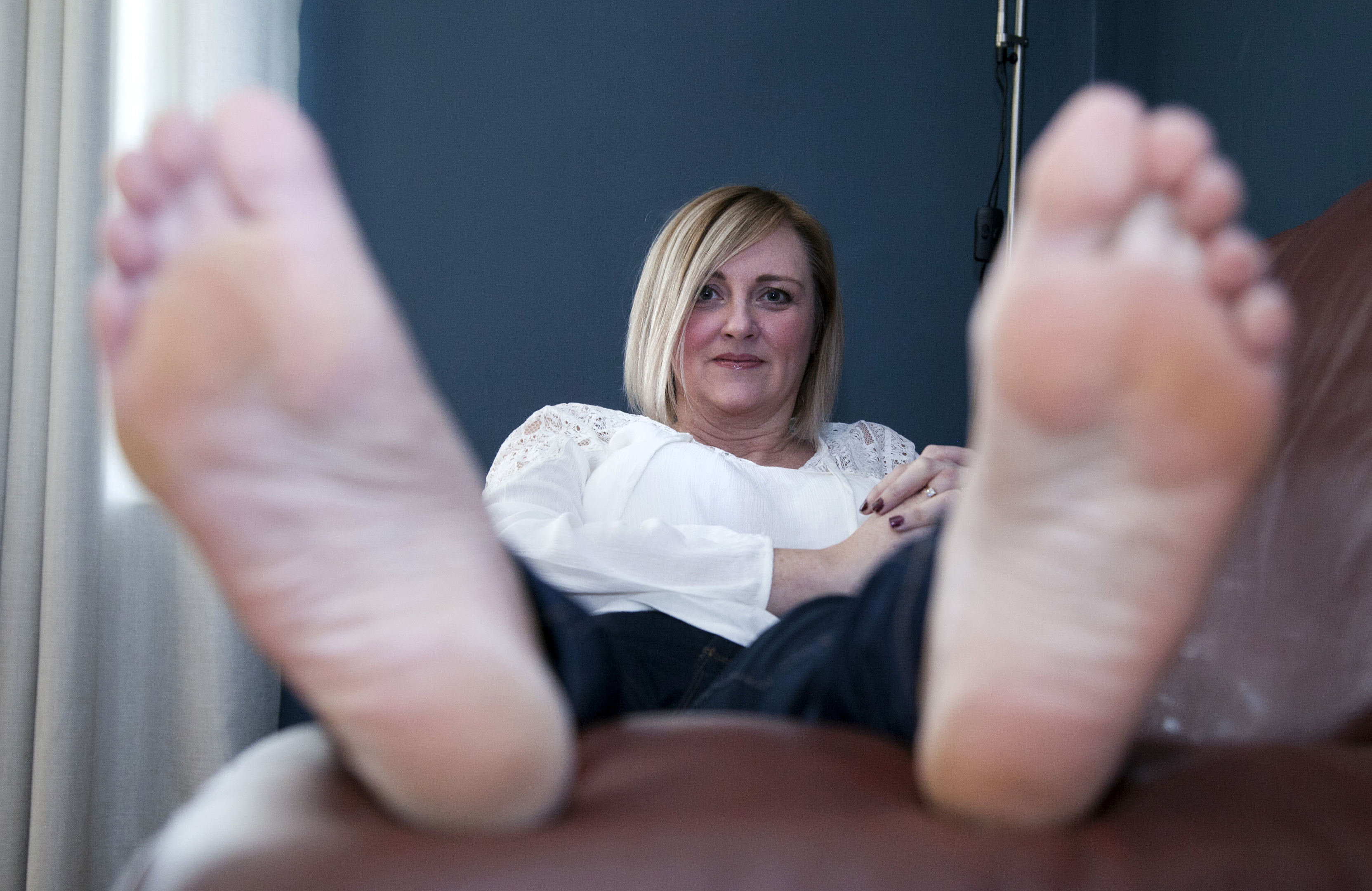 Denise Brown broke her foot going back to the clinic for a check up on her bunions (Alistair Linford)