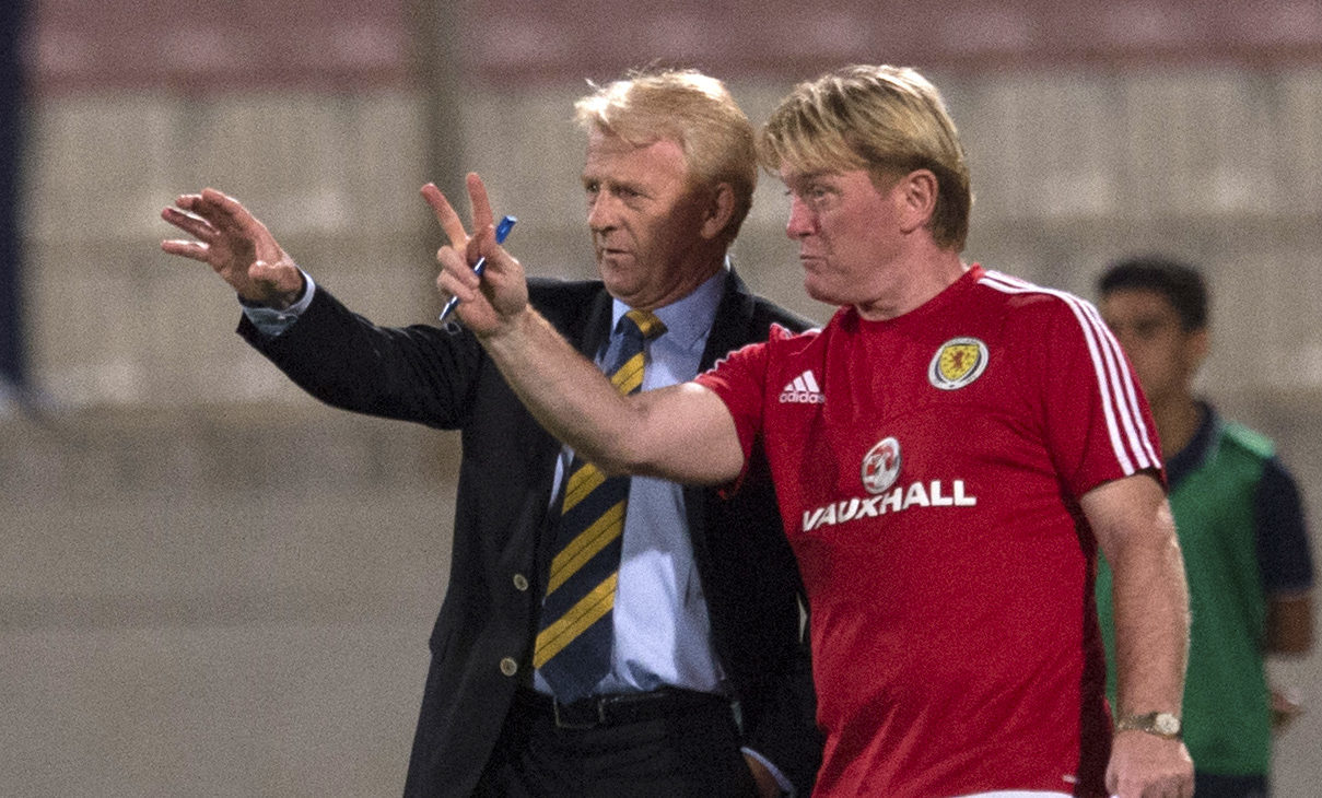 Stuart McCall was one of Gordon Strachan's assistants (SNS Group)