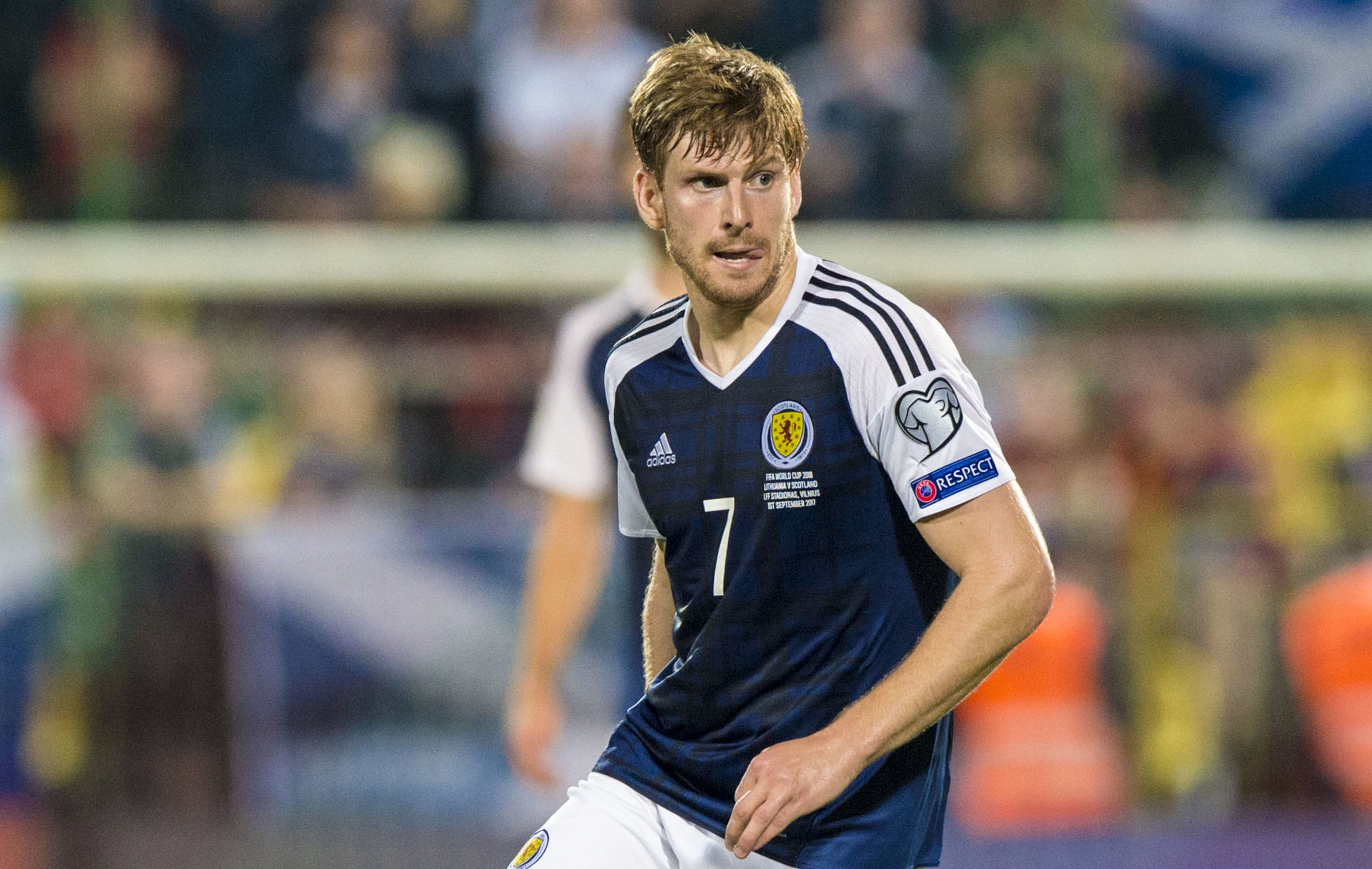 Stuart Armstrong in action for Scotland (SNS Group)