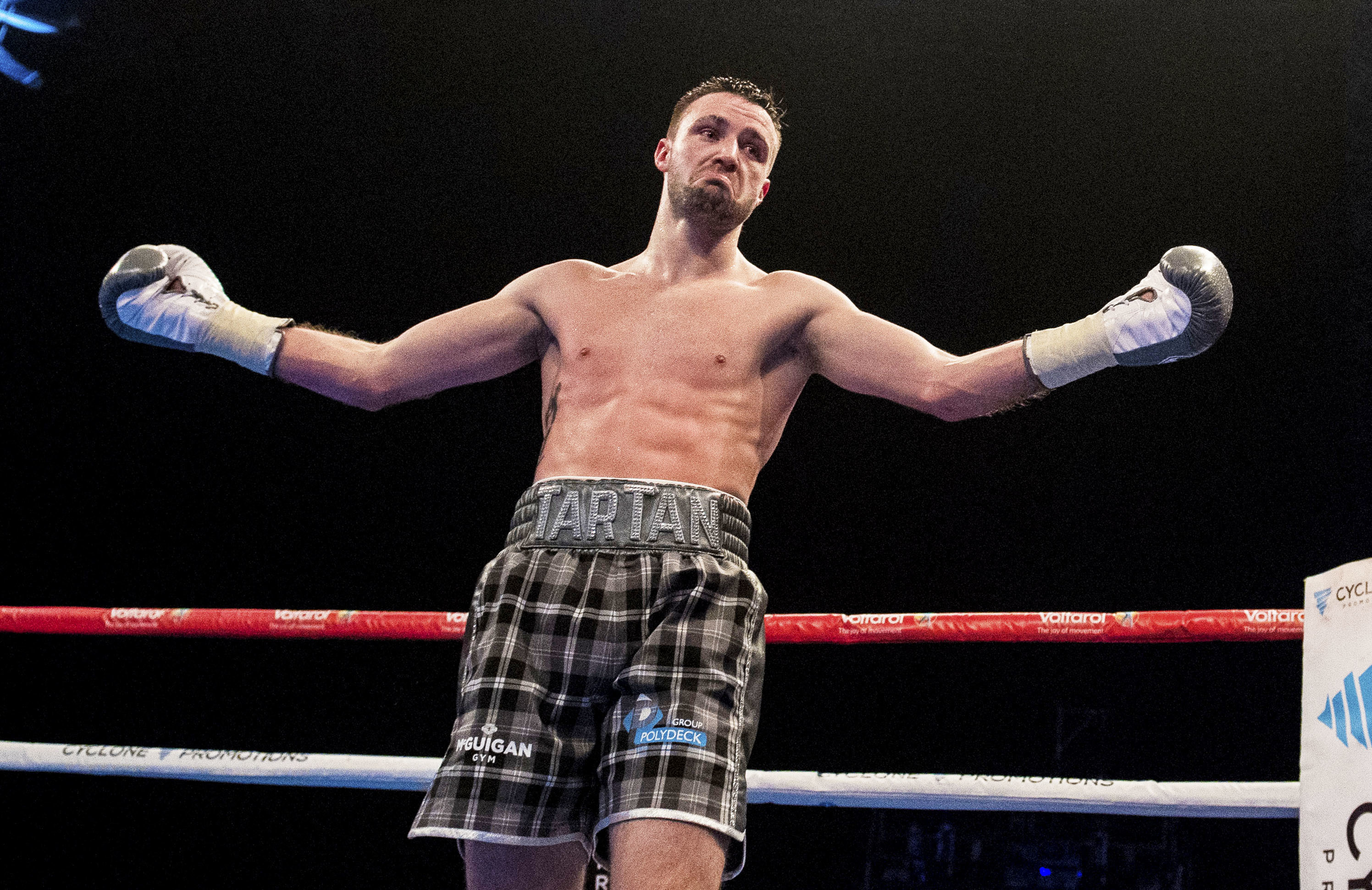 Scotland's Josh Taylor celebrates his win earlier this month at The Hydro (SNS Group)