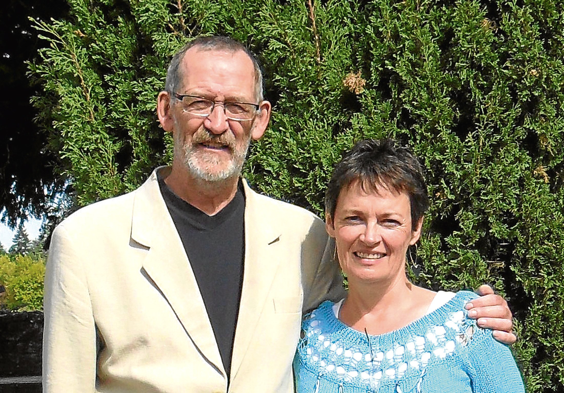 Grief councillor Jane Duncan Rogers and her late husband Philip