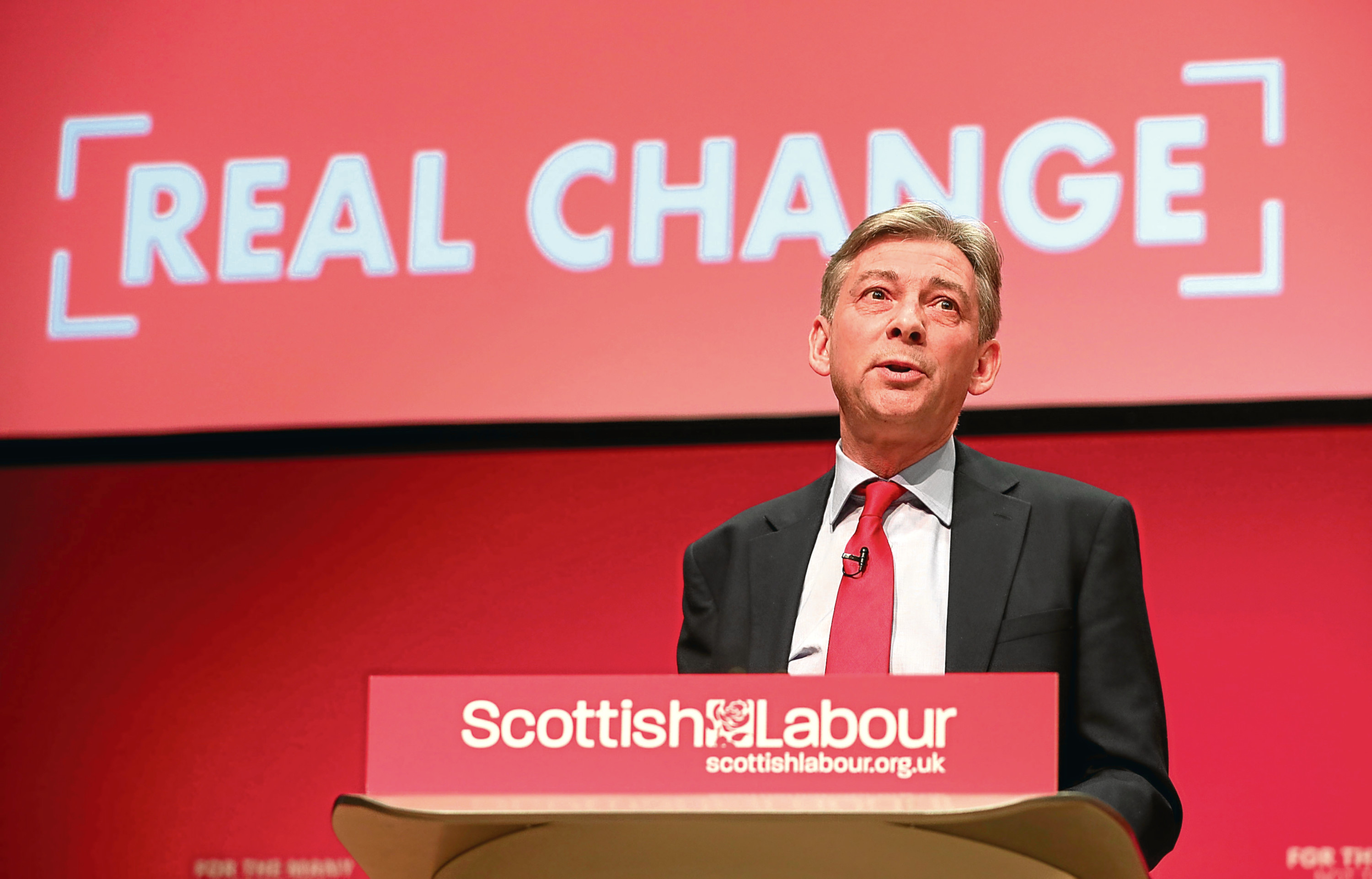Scottish Labour leader Richard Leonard speaking during the Scottish Labour Conference in Caird Hall, Dundee (Jane Barlow/PA Wire)