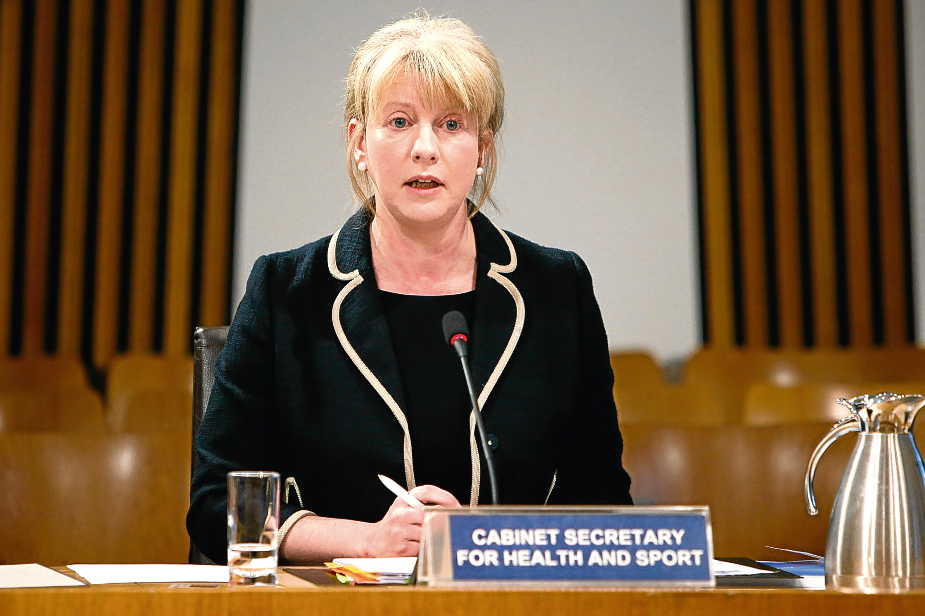 Shona Robison, Cabinet Secretary for Health a (Andrew Cowan/Scottish Parliament)