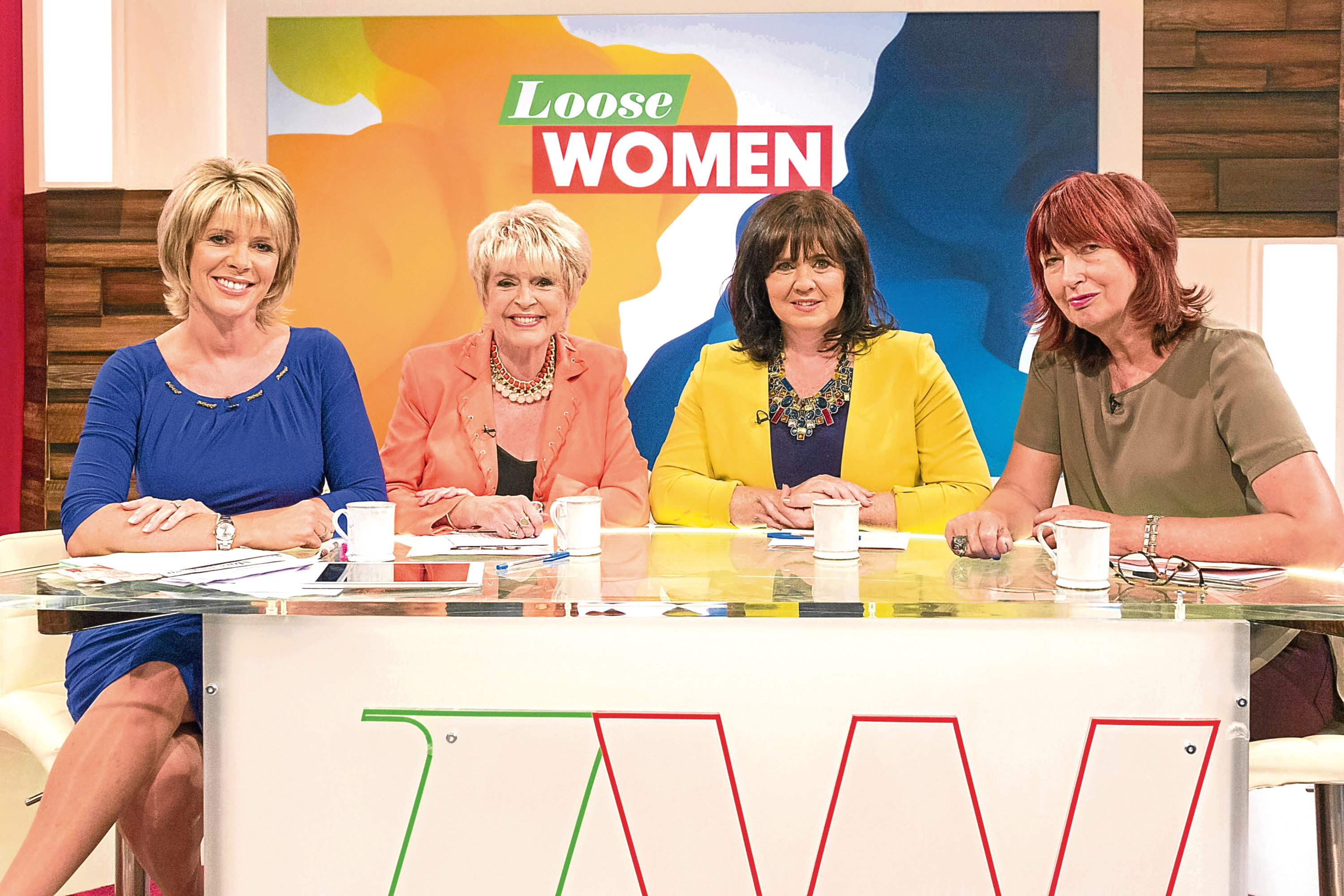 Ruth Langsford, Gloria Hunniford, Coleen Nolan and Janet Street-Porter on 'Loose Women' (Ken McKay/ITV)