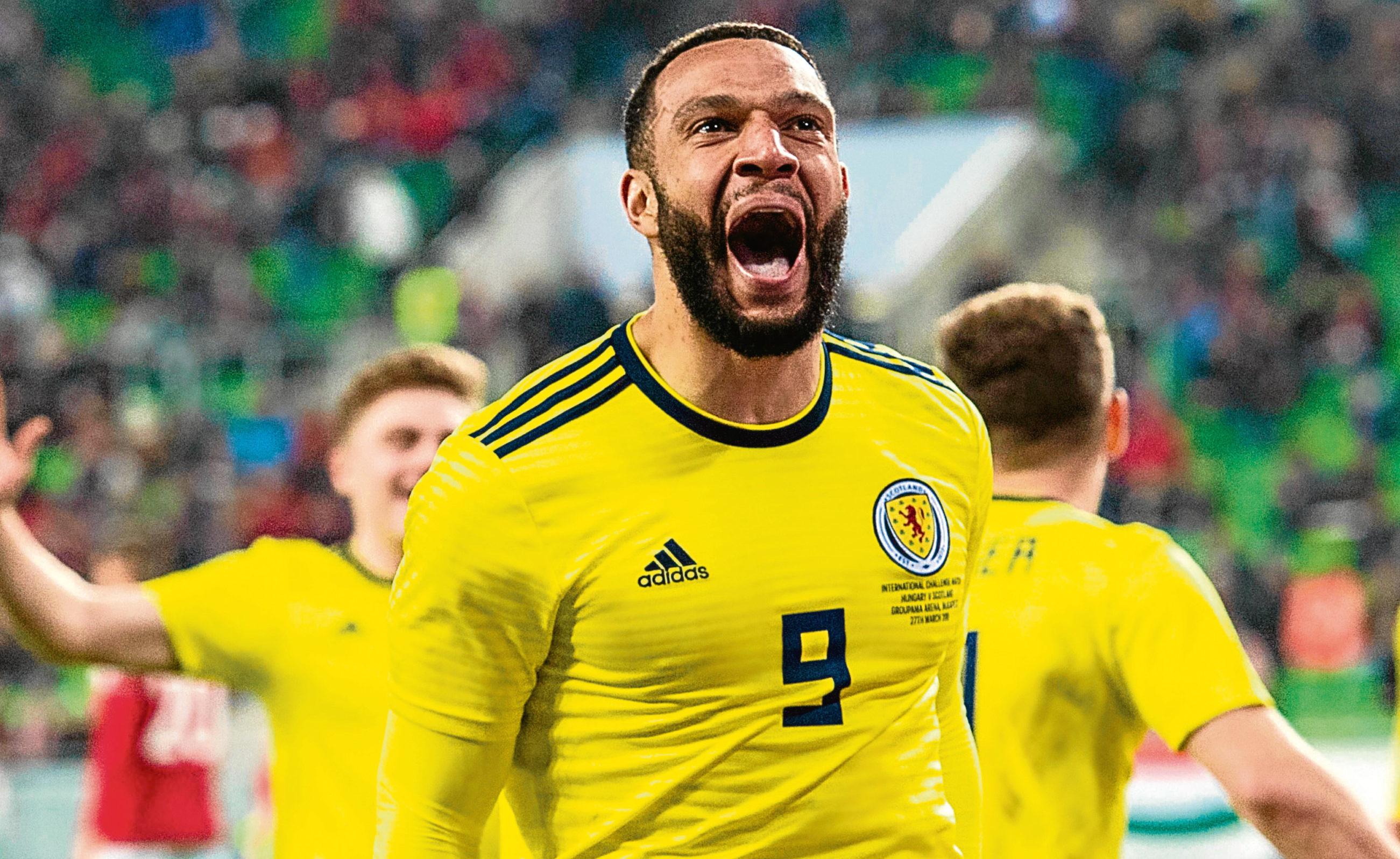 Scotland's Matt Phillips celebrates after scoring against Hungary (SNS Group)