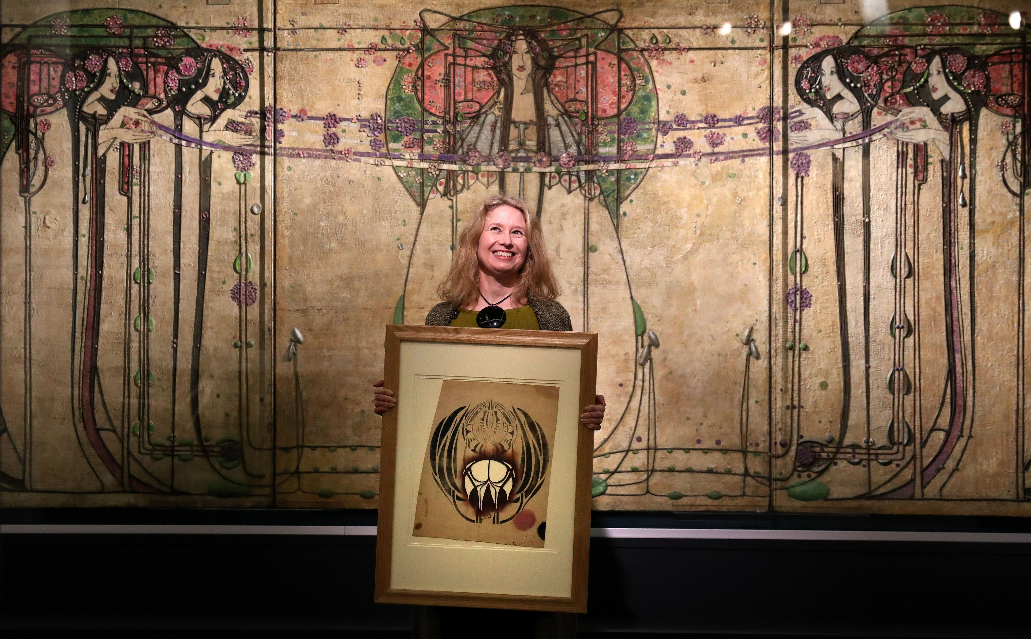 Curator Alison Brown at the launch of Charles Rennie Mackintosh Making the Glasgow Style exhibition at Glasgow's Kelvingrove Art Gallery and Museum (Andrew Milligan/PA Wire)