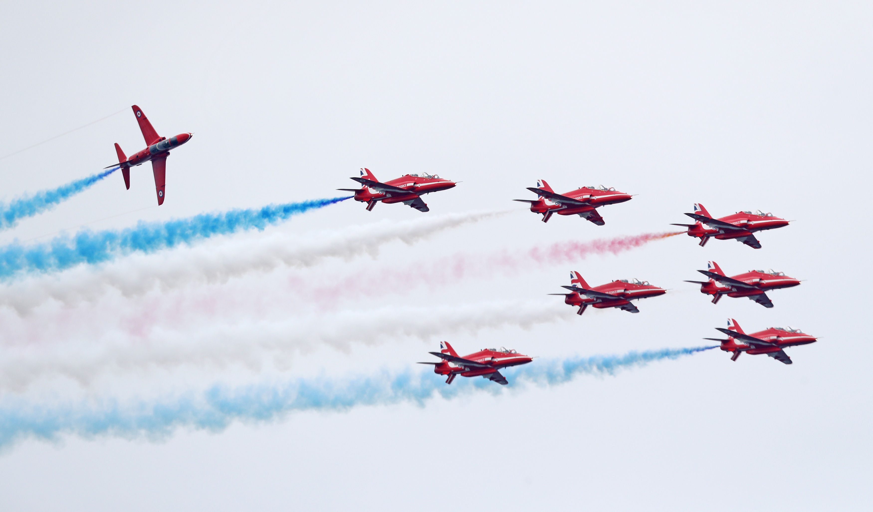 A Red Arrows jet has crashed after an incident at RAF Valley in north Wales, the Ministry of Defence has said. (Owen Humphreys/PA Wire)