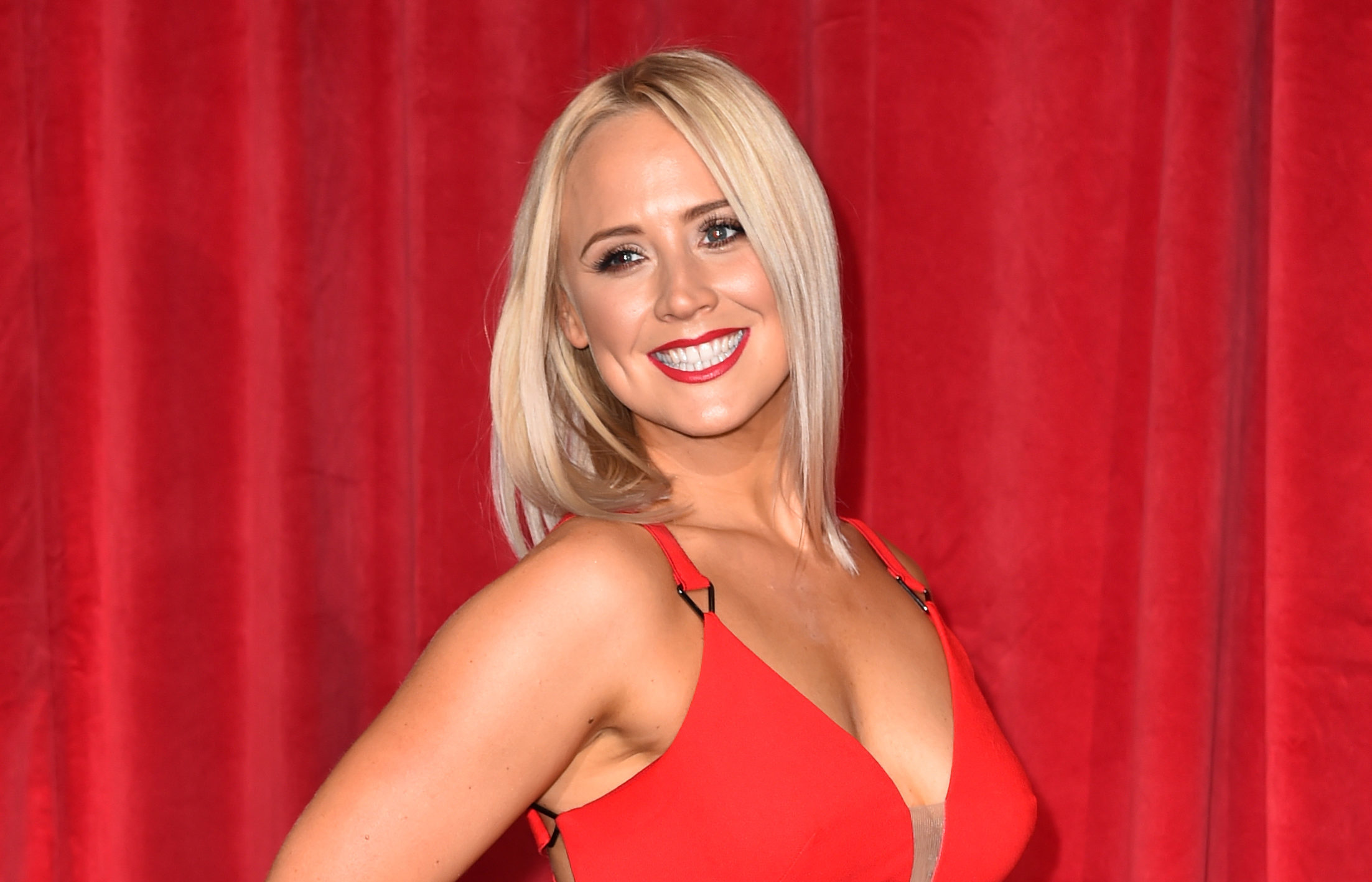 Amy Walsh attending the British Soap Awards 2017 (PA)