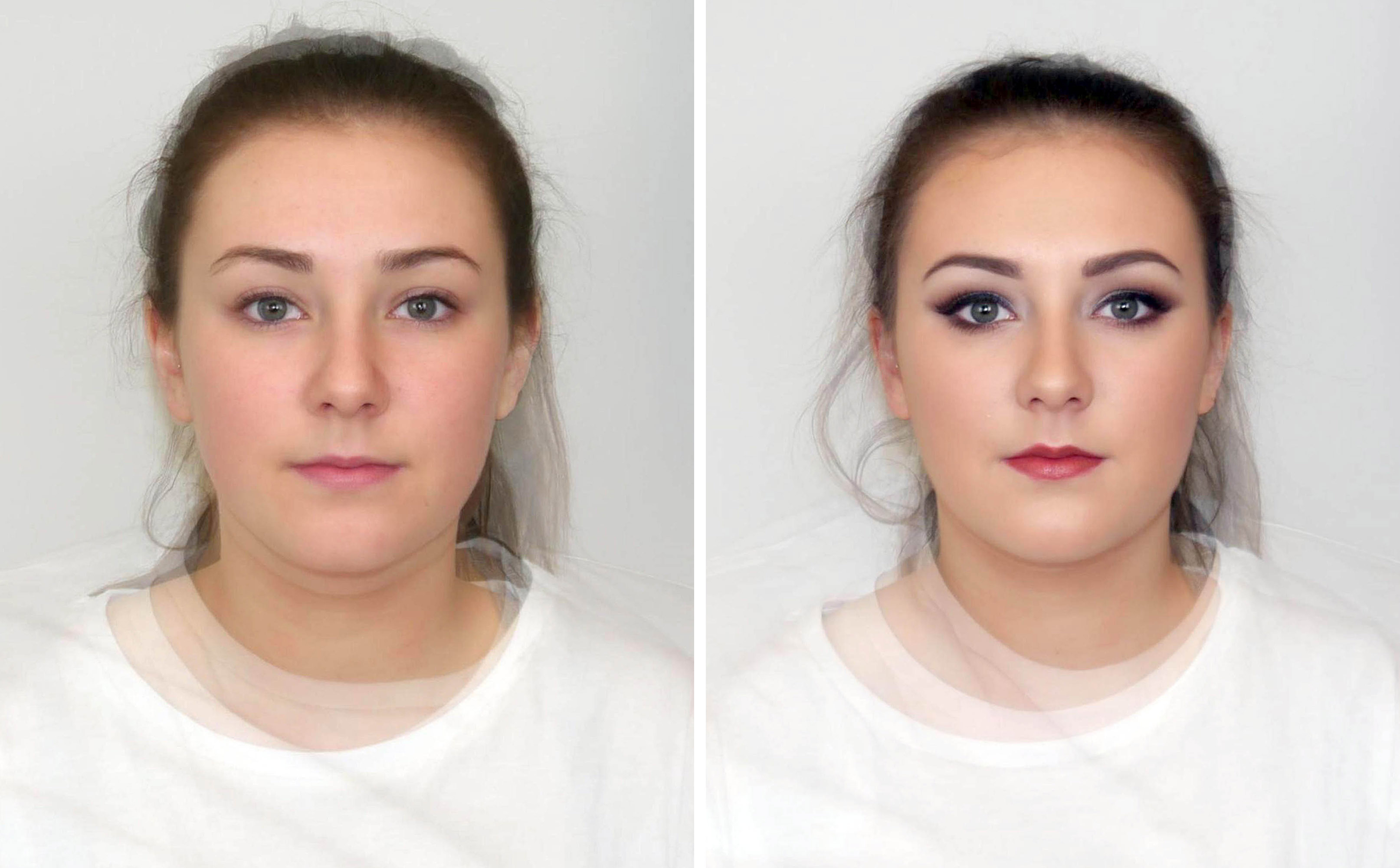 An Abertay University study has found that women wearing make-up for a night-out are less likely to be considered good leaders. (Abertay University/PA Wire)