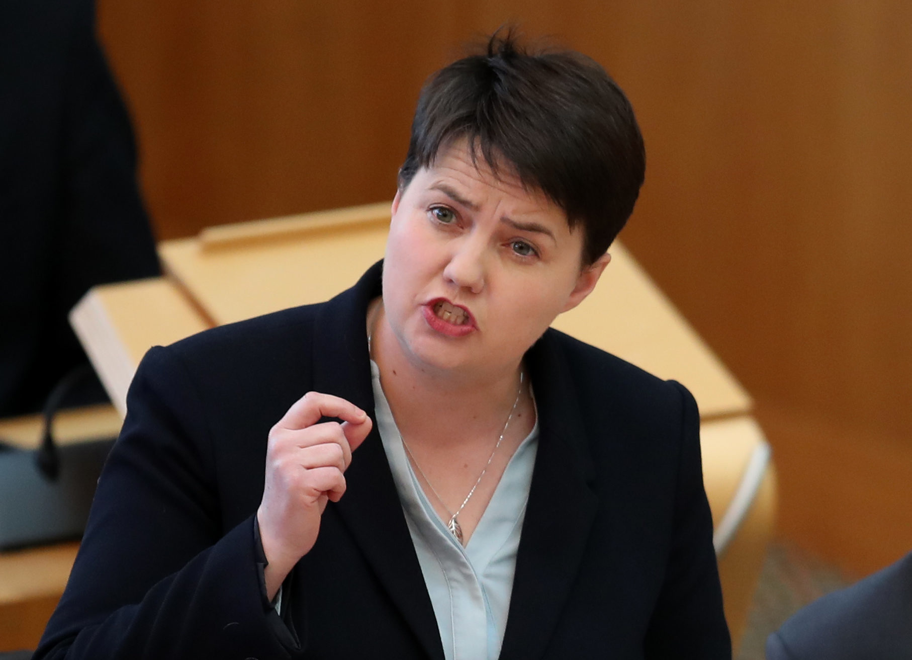 Scottish Conservative party leader Ruth Davidson during First Minister's Questions at the Scottish Parliament in Edinburgh (Jane Barlow/PA Wire)