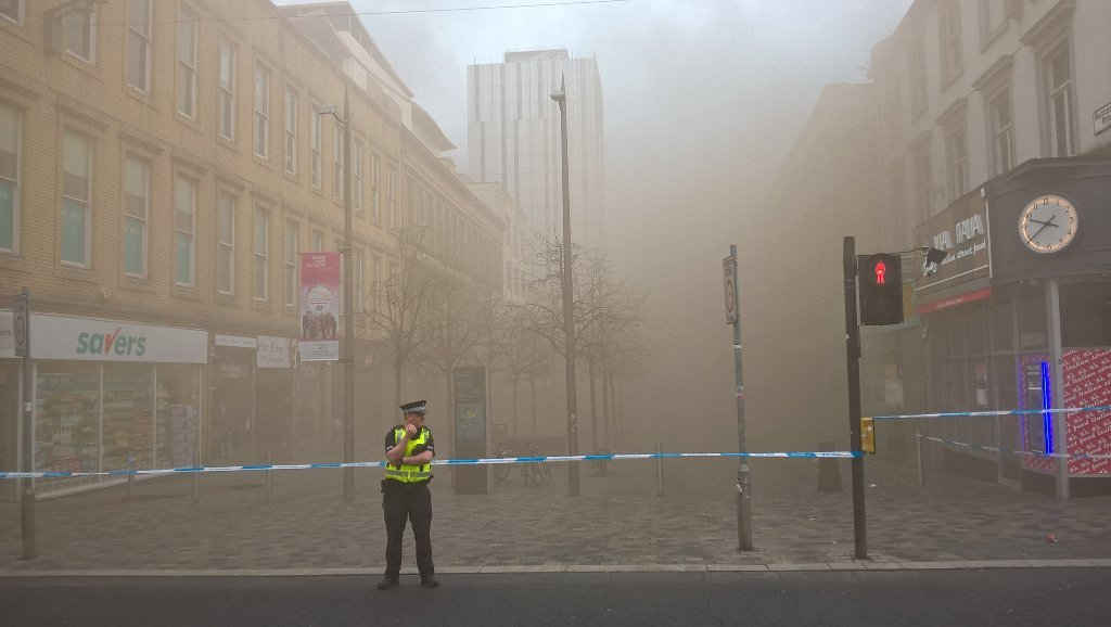 The blaze on Sauchiehall St (Twitter/@Tom_Celt)