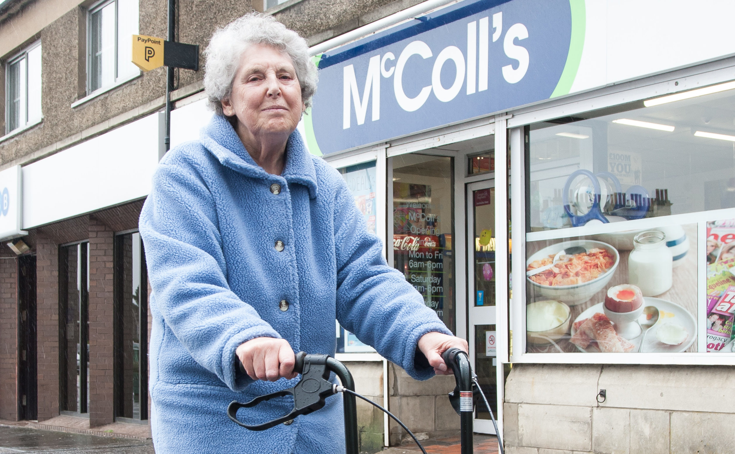 Connie Syme has fought for disabled access to Rosyth post office (Tina Norris)