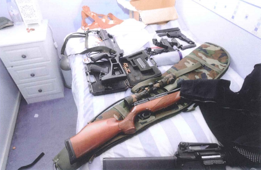 Police raiding Martin Watt's home found a lethal array of weapons