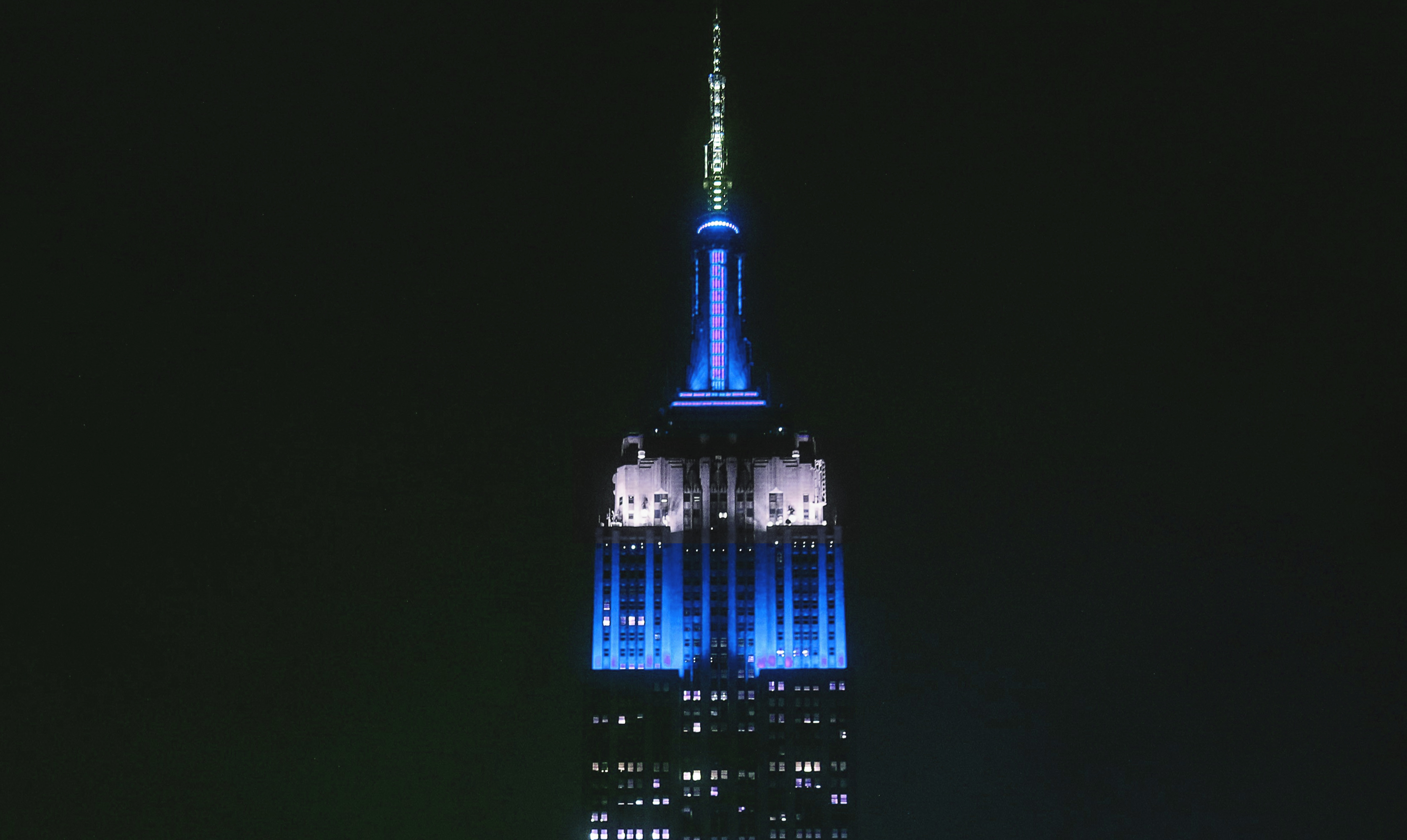 A modified image showing how the tower would look in blue and white (Getty Images)