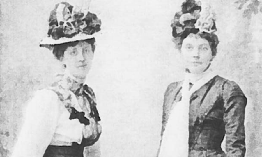Caroline Phillips with her cousin Agnes