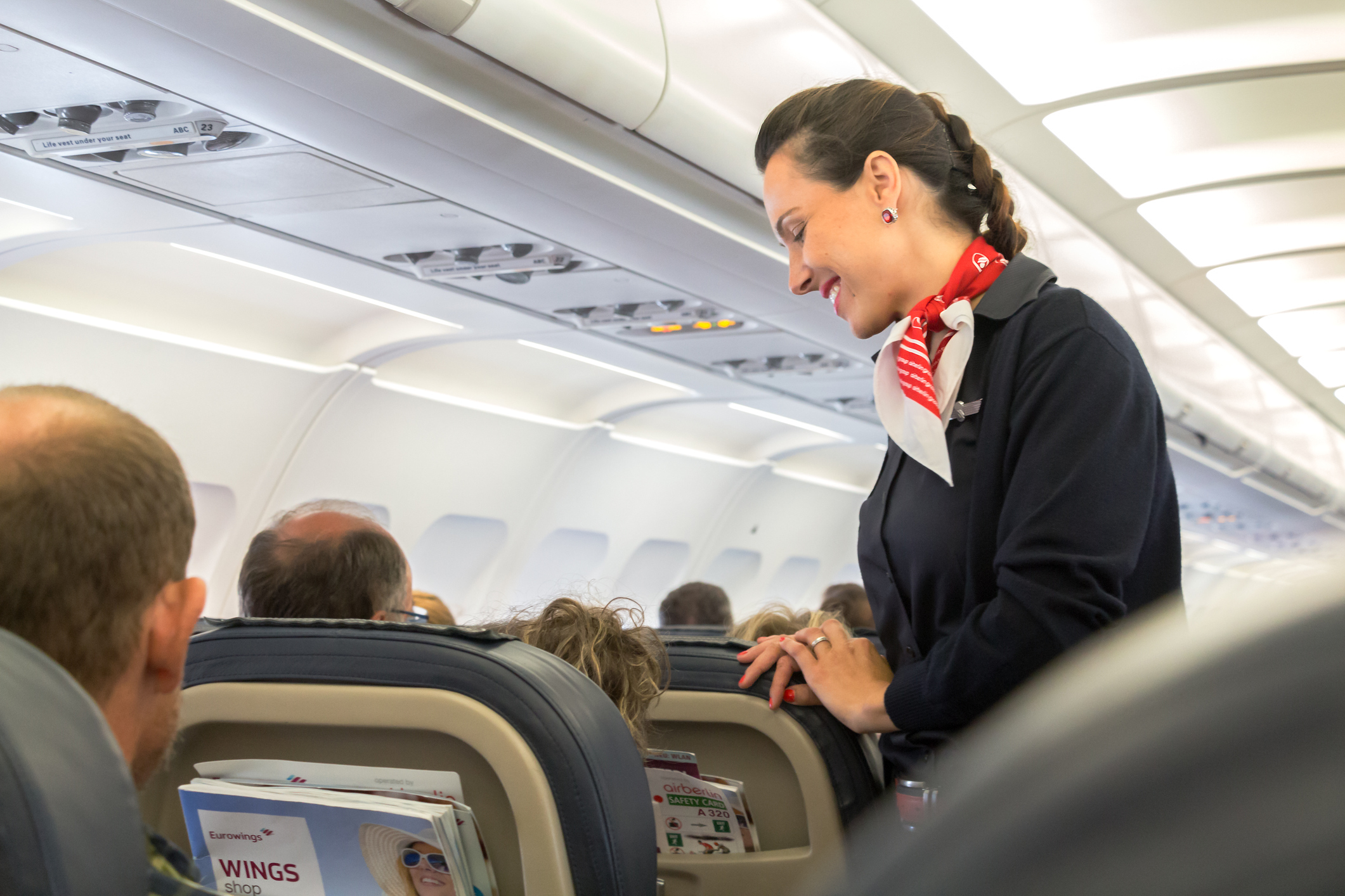 Cabin crew have to deal with drunks, brats, hens, stags and even the odd stroppy EastEnder! (Getty Images)