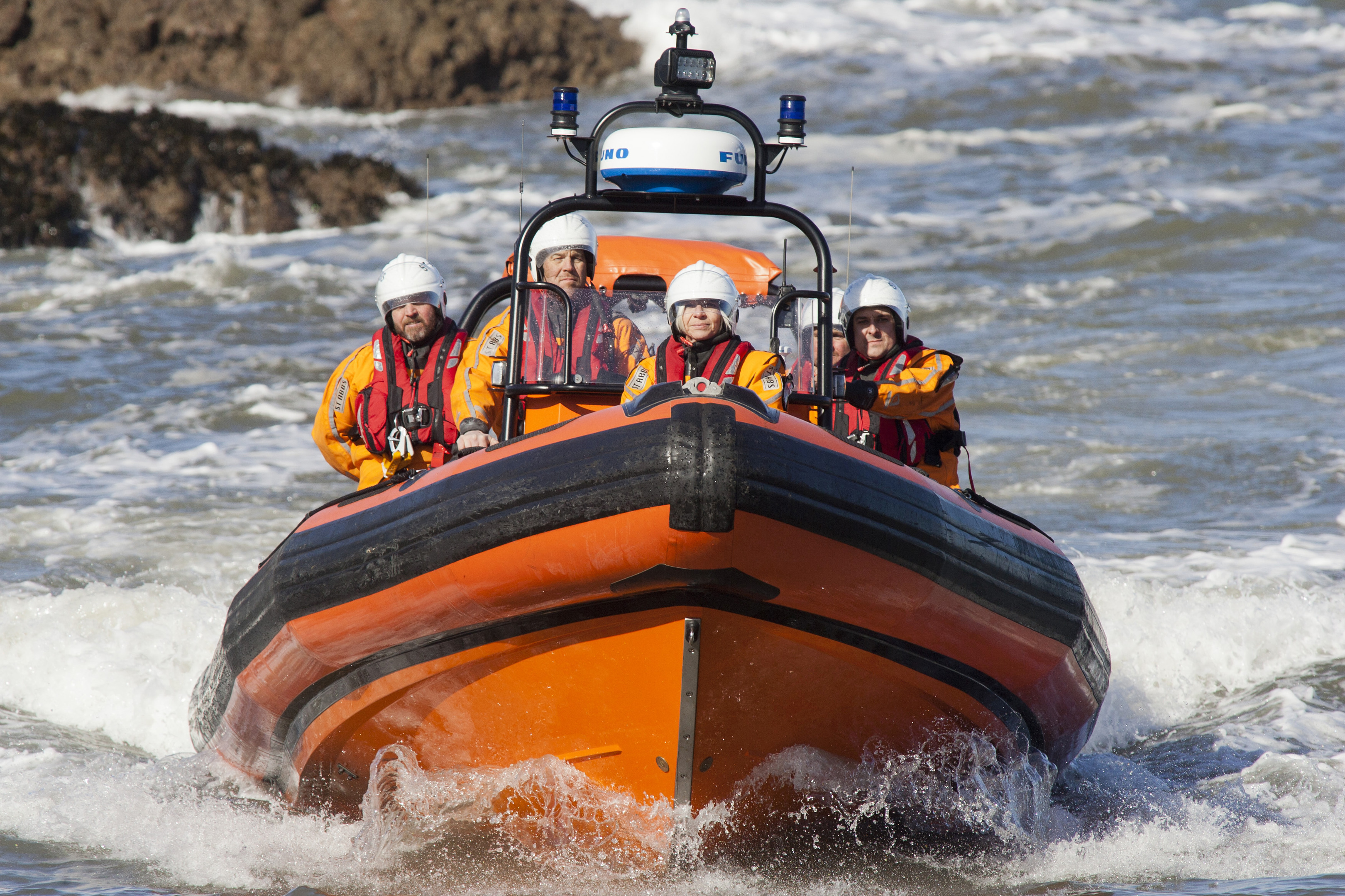 Susan Barry, a volunteer with St Abbs lifeboat (Alistair Linford)