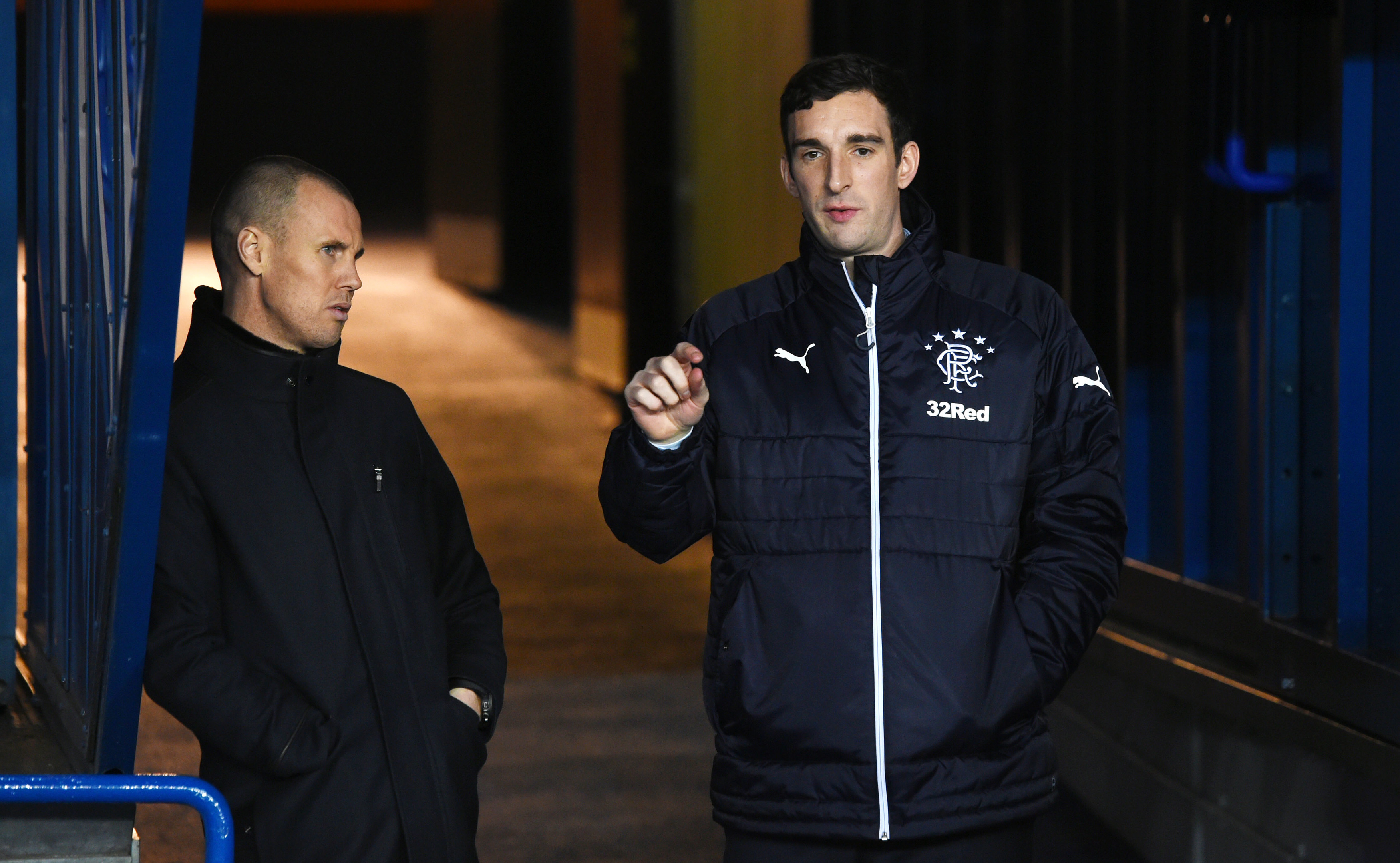 Rangers' Lee Wallace (right) with Kenny Miller (SNS Group)