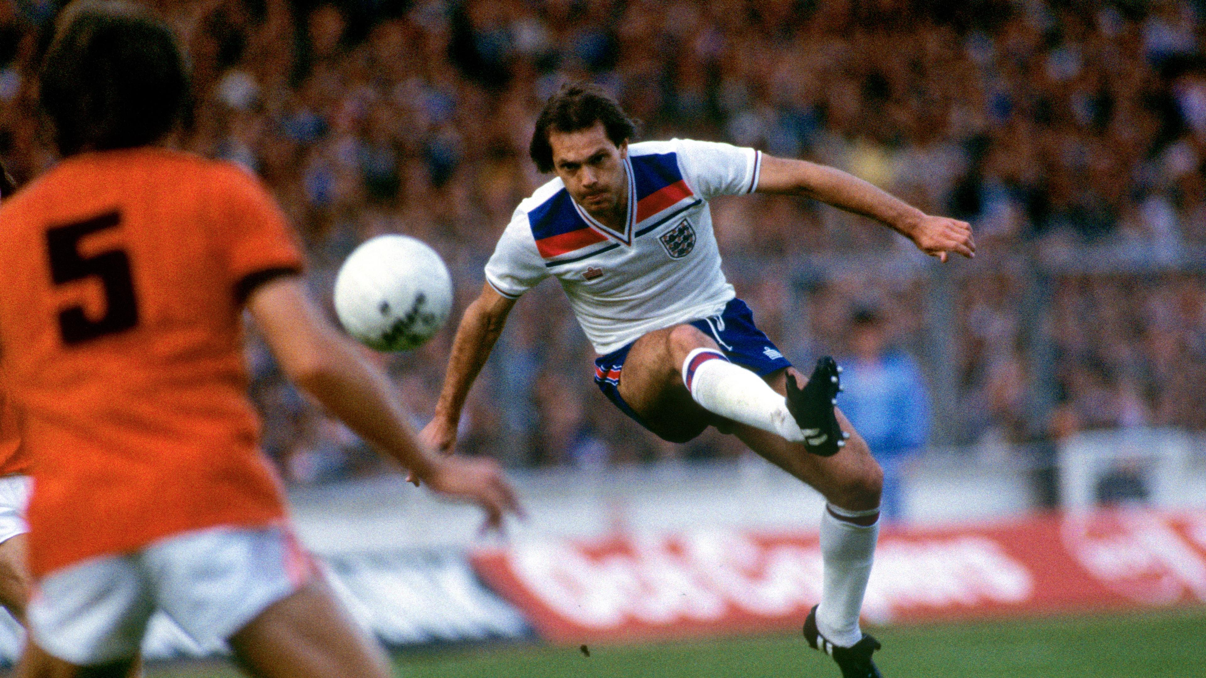 Ray Wilkins in action for England