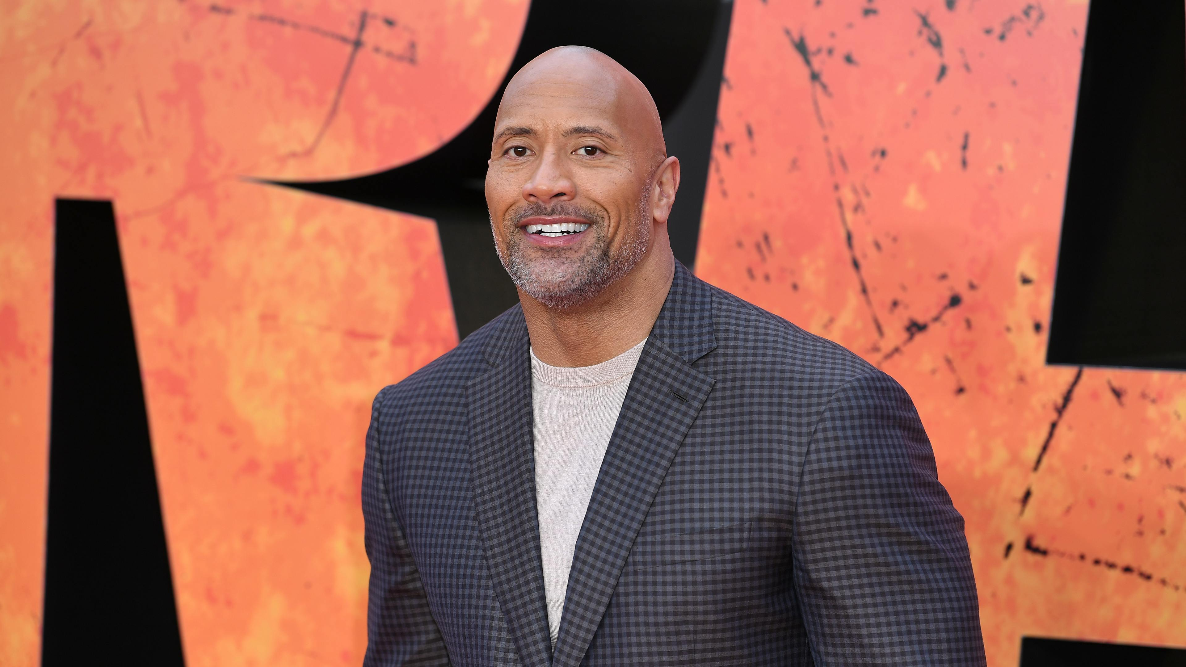 The Rock at the premiere of new movie Rampage
