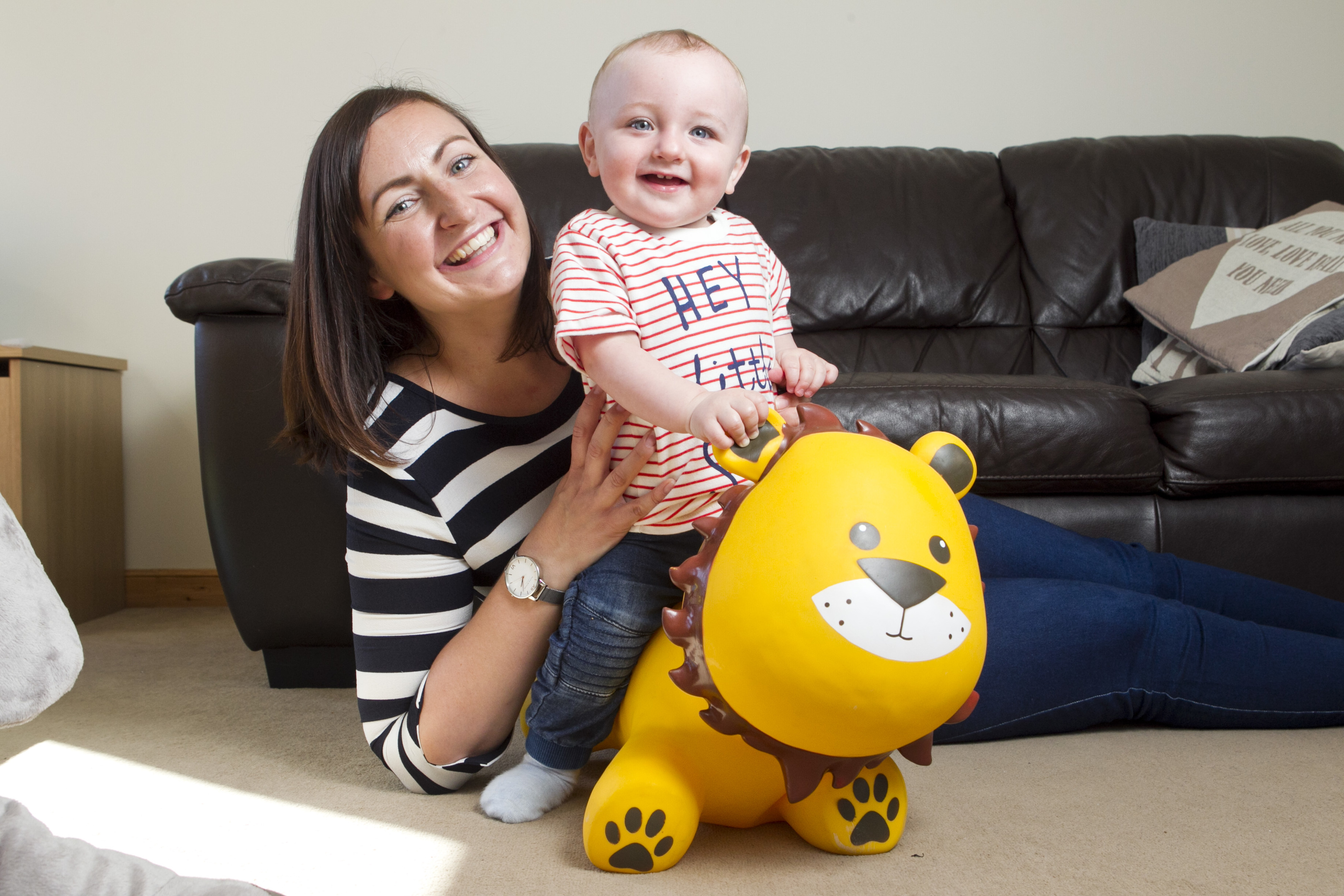 Carly Gardner, and her baby boy Harry (Andrew Cawley/DC Thomson)