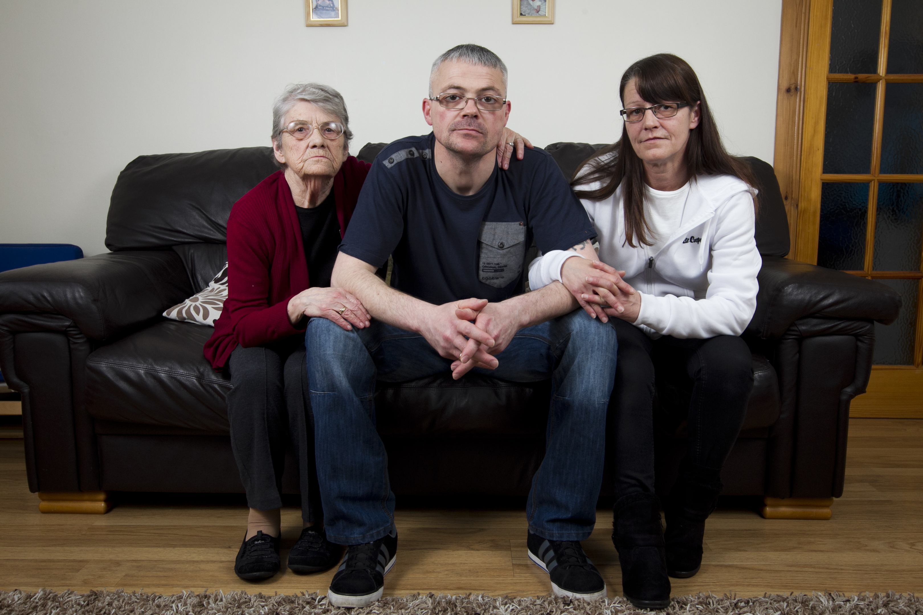 Gary and Janice Thomson, with son Jack, 11, and grandson Max, 6, who's father also works at Pinneys (Andrew Cawley/DC Thomson)