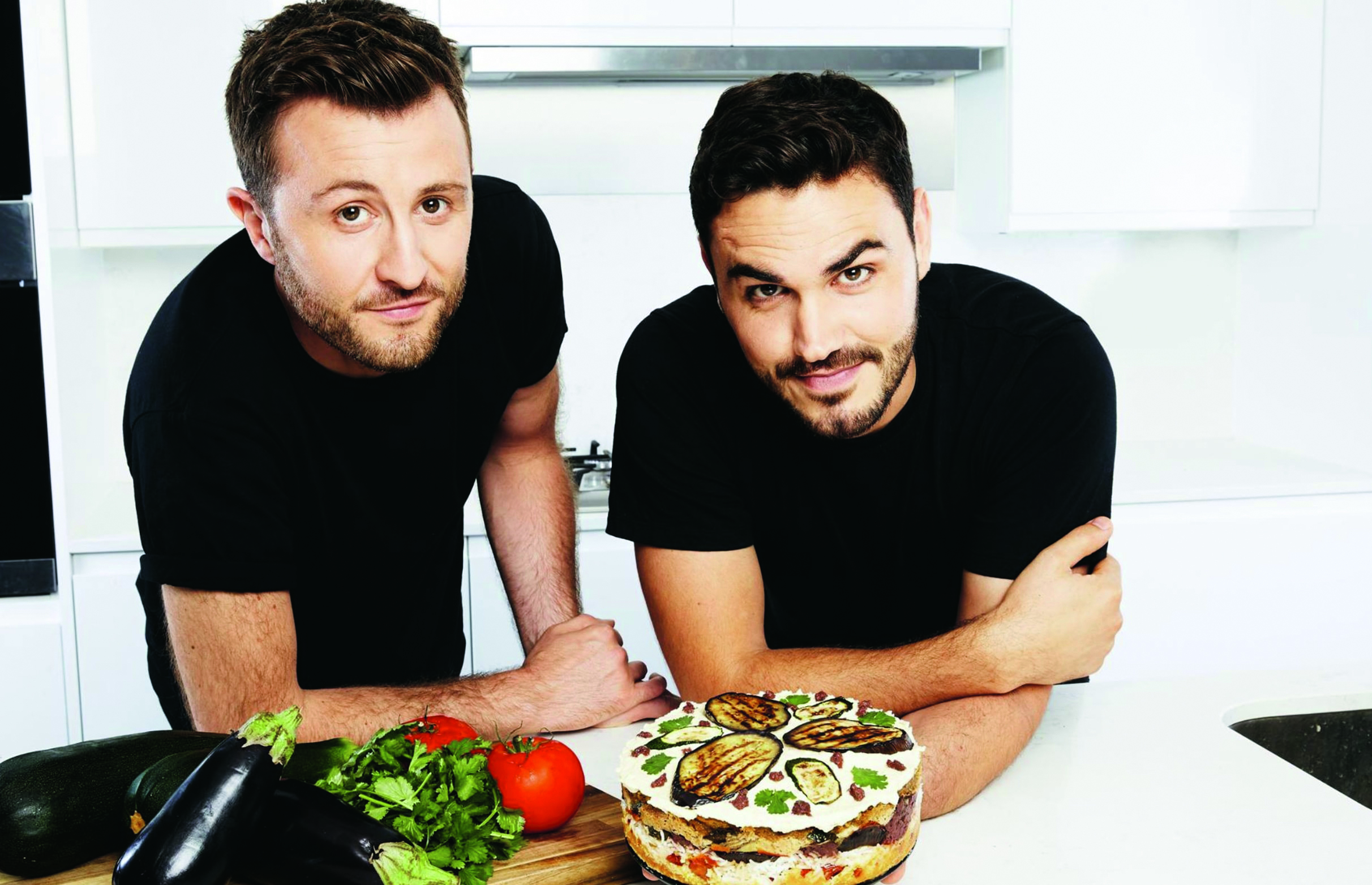 Online sensations Ian Thirsby, left, and Henry Firth attract millions of viewers each month with their vegan cookery show and a recipe book is now on its way