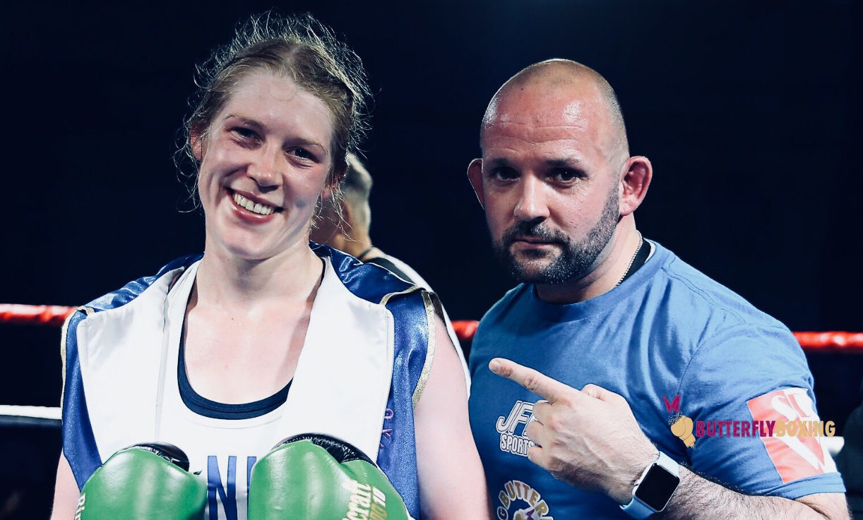 Hannah Rankin with trainer Noel Callan (Butterfly boxing / Naterlie Mayhew)