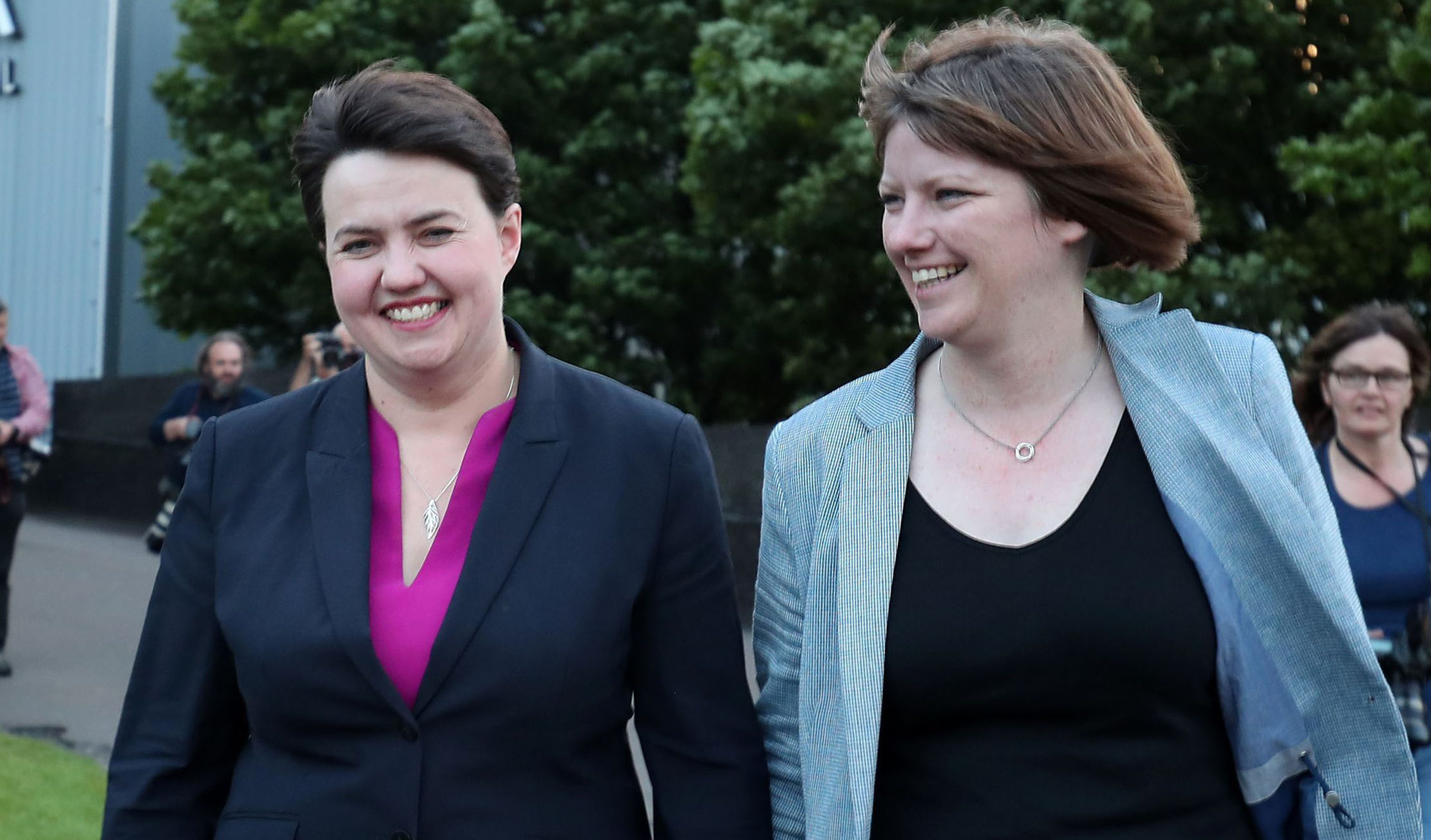 Ruth Davidson and Jen Wilson (Jane Barlow/PA Wire)