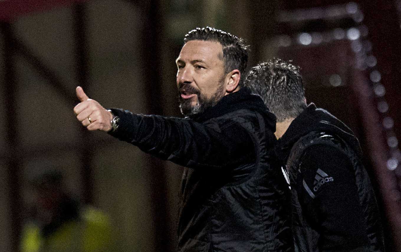Aberdeen manager Derek McInnes on the touchline (SNS Group / Craig Williamson)