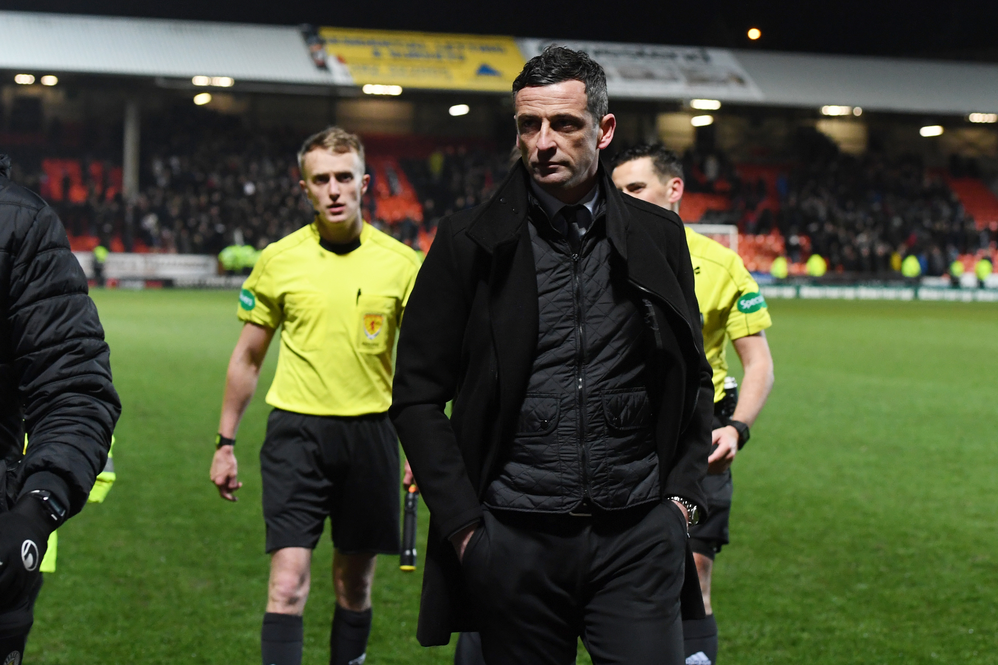 St Mirren manager Jack Ross at full time (SNS Group / Ross MacDonald)