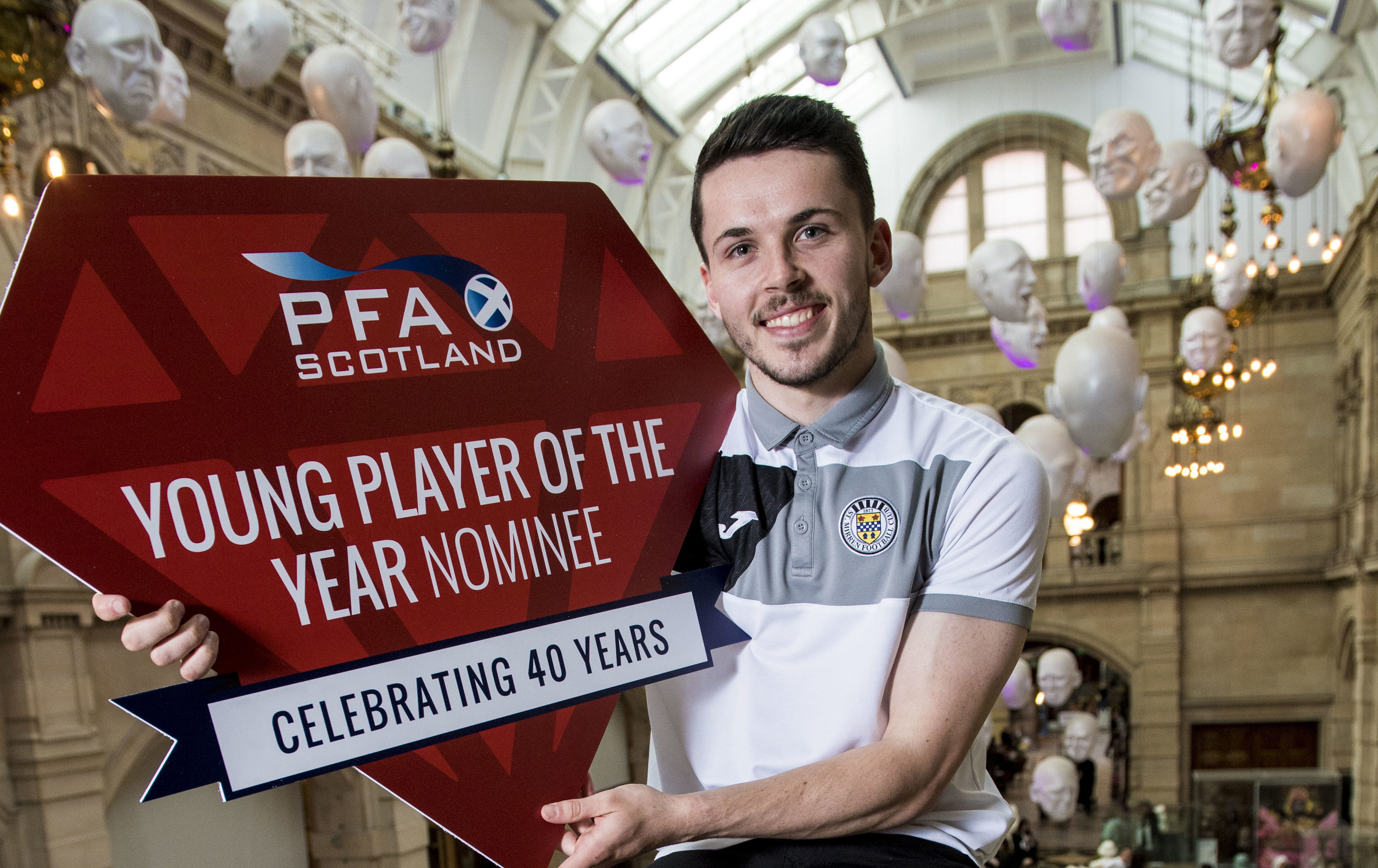 PFA Scotland announce St Mirren's Lewis Morgan as a nominee for the 2017/2018 Young Player of the Year Award (SNS Group / Craig Williamson)