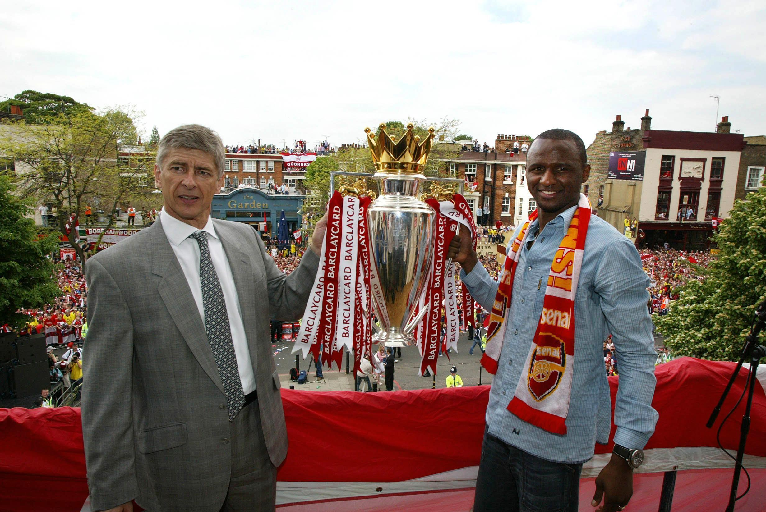Patrick Vieira and Arsene Wenger (PA ROTA/PA Wire)