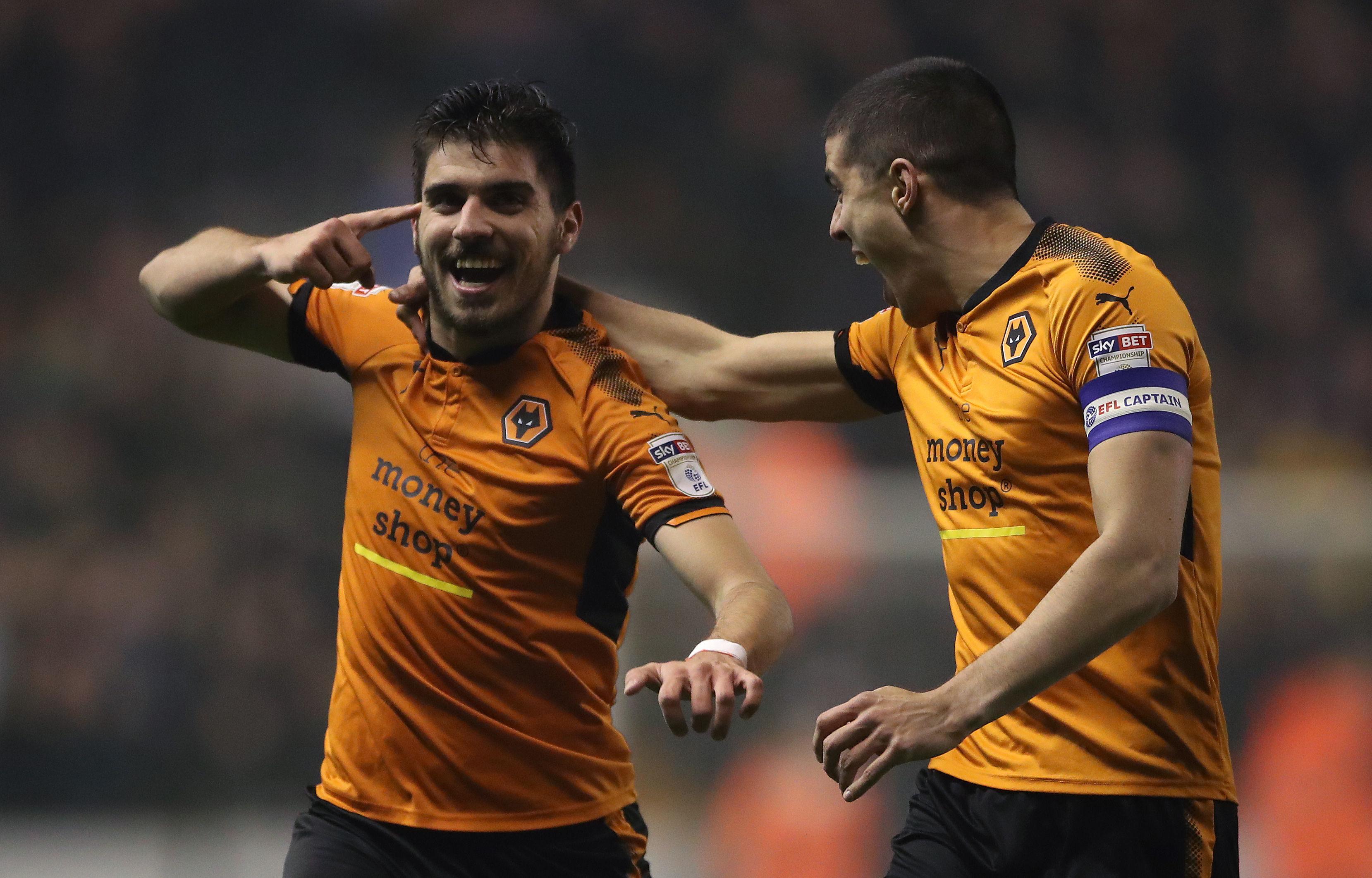 Wolverhampton Wanderers' Ruben Neves celebrates scoring his side's second goal (Nick Potts/PA Wire)